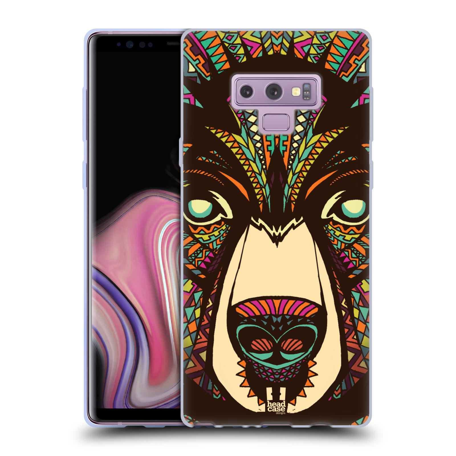 Silikonové pouzdro na mobil Samsung Galaxy Note 9 - Head Case - AZTEC MEDVĚD