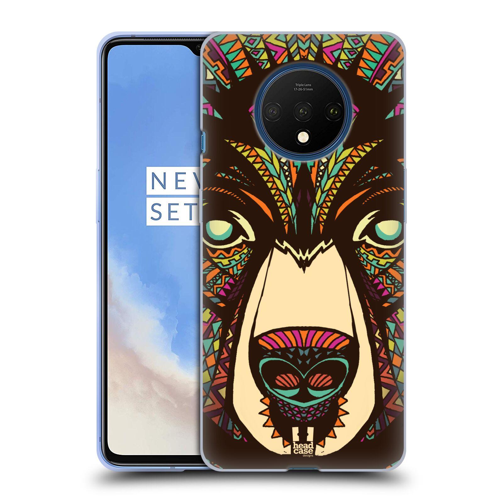 Silikonové pouzdro na mobil OnePlus 7T - Head Case - AZTEC MEDVĚD