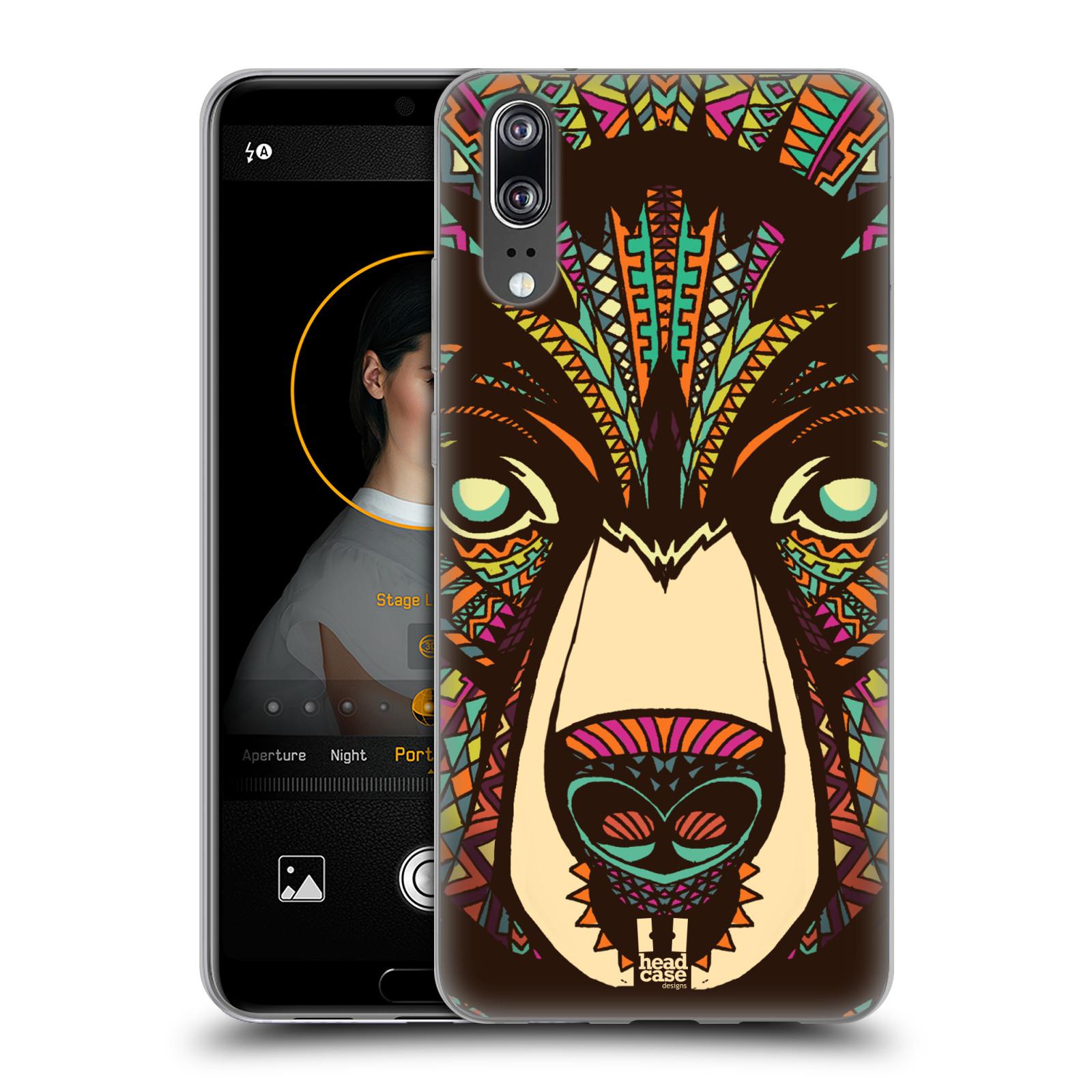 Silikonové pouzdro na mobil Huawei P20 - Head Case - AZTEC MEDVĚD