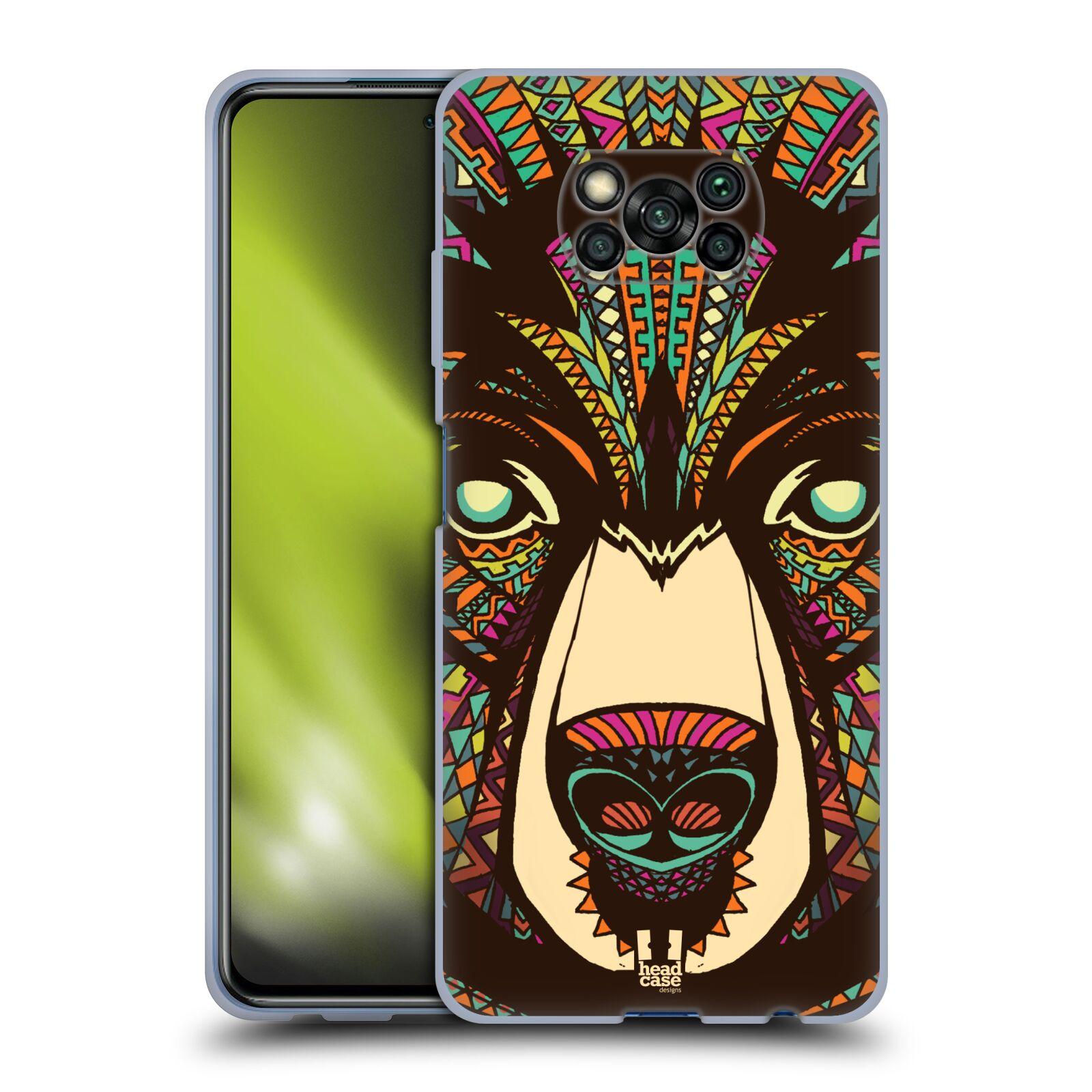 Silikonové pouzdro na mobil Xiaomi Poco X3 NFC - Head Case - AZTEC MEDVĚD