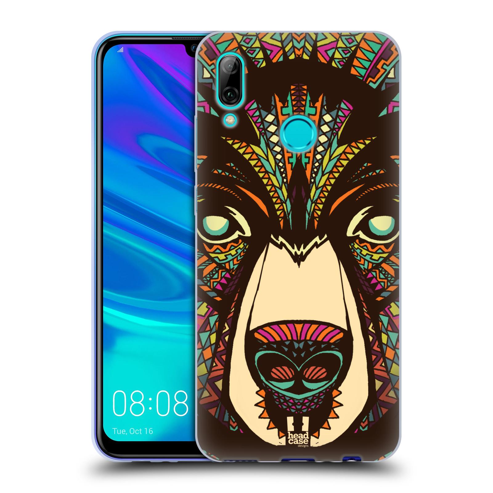 Silikonové pouzdro na mobil Huawei P Smart (2019) - Head Case - AZTEC MEDVĚD