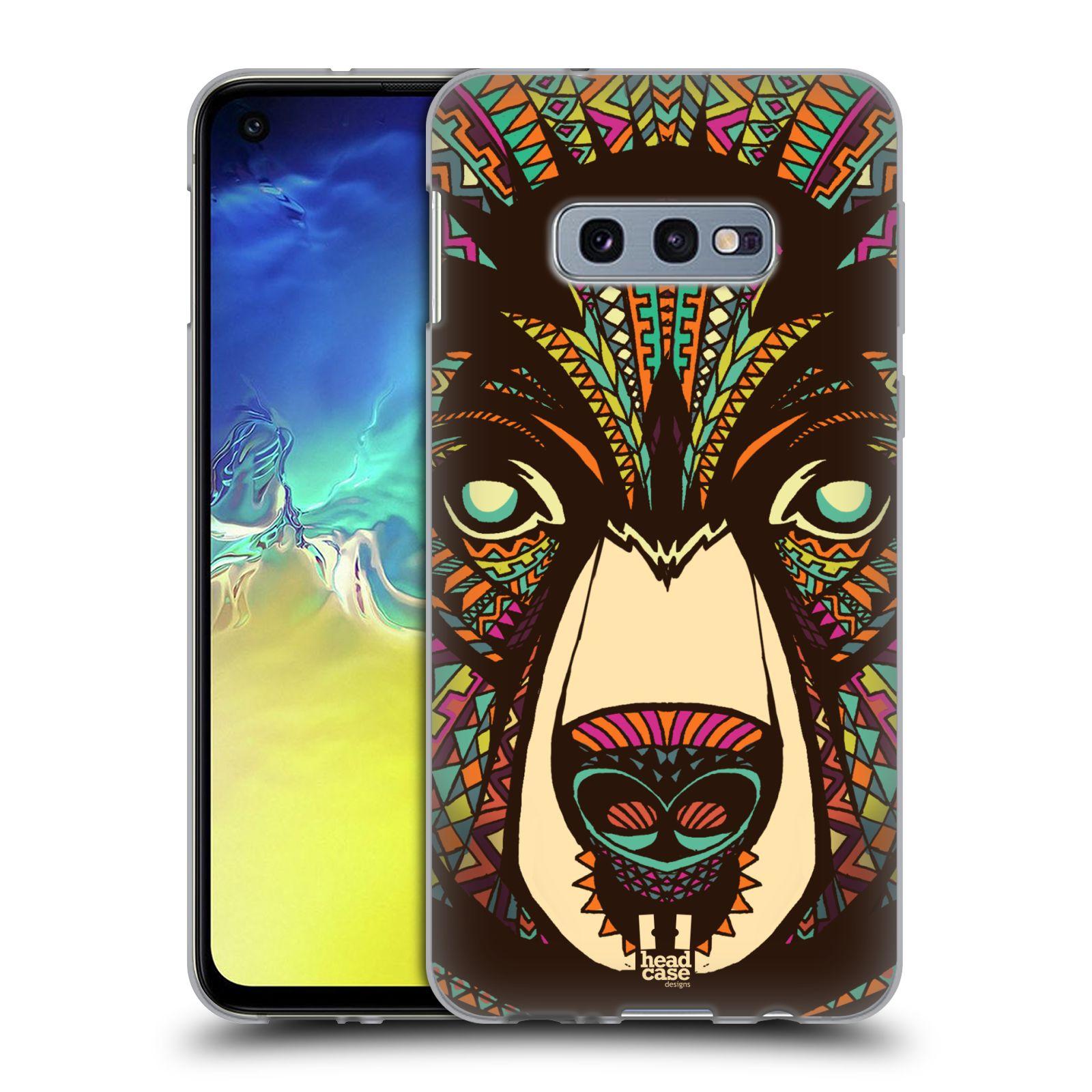 Silikonové pouzdro na mobil Samsung Galaxy S10e - Head Case - AZTEC MEDVĚD