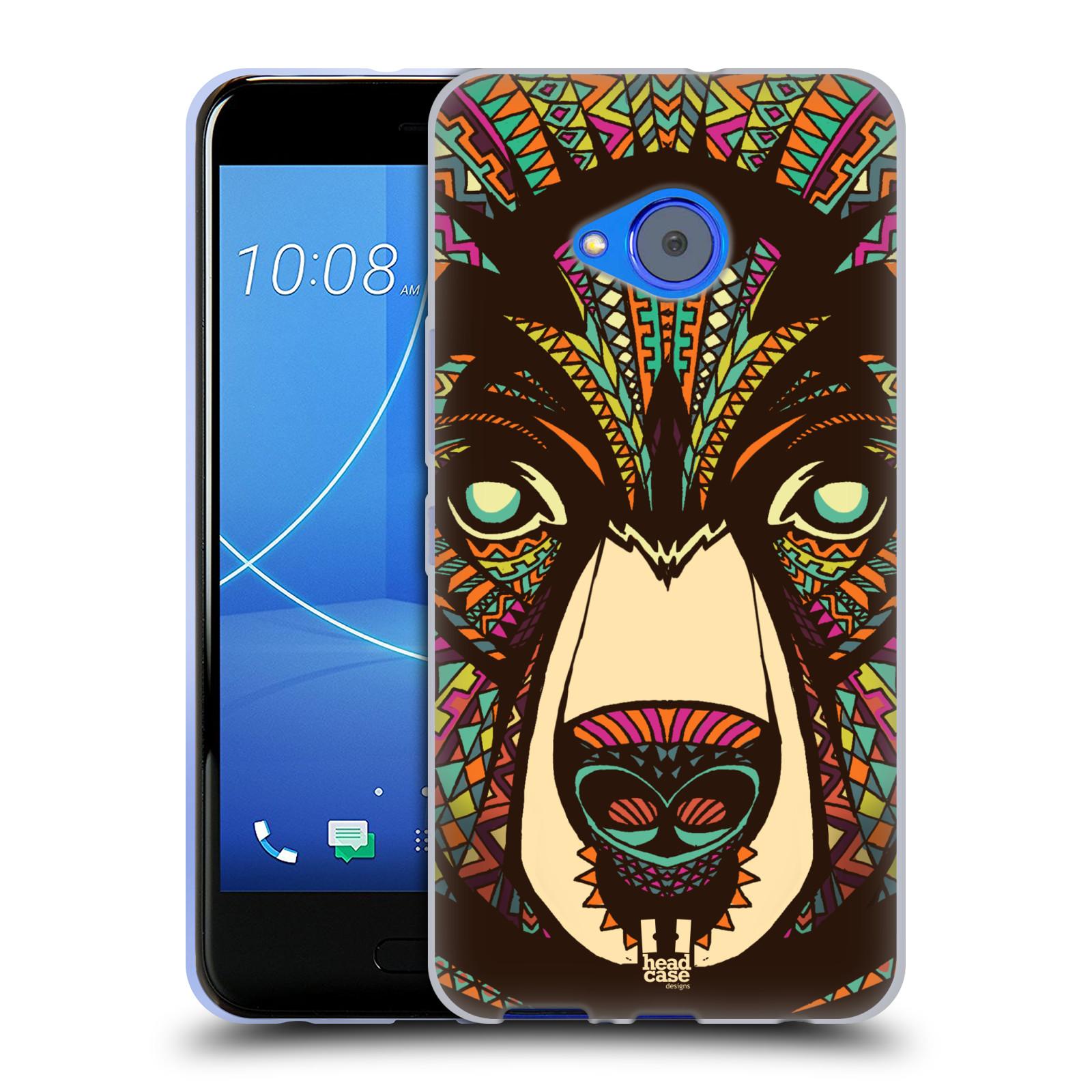 Silikonové pouzdro na mobil HTC U11 Life - Head Case - AZTEC MEDVĚD