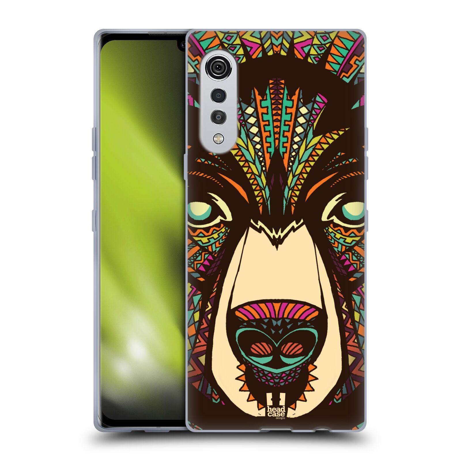 Silikonové pouzdro na mobil LG Velvet - Head Case - AZTEC MEDVĚD
