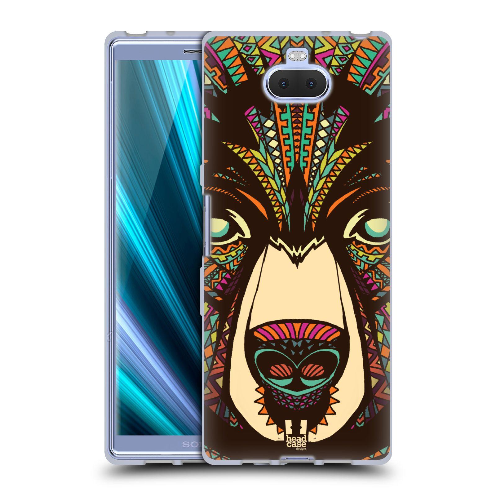 Silikonové pouzdro na mobil Sony Xperia 10 - Head Case - AZTEC MEDVĚD
