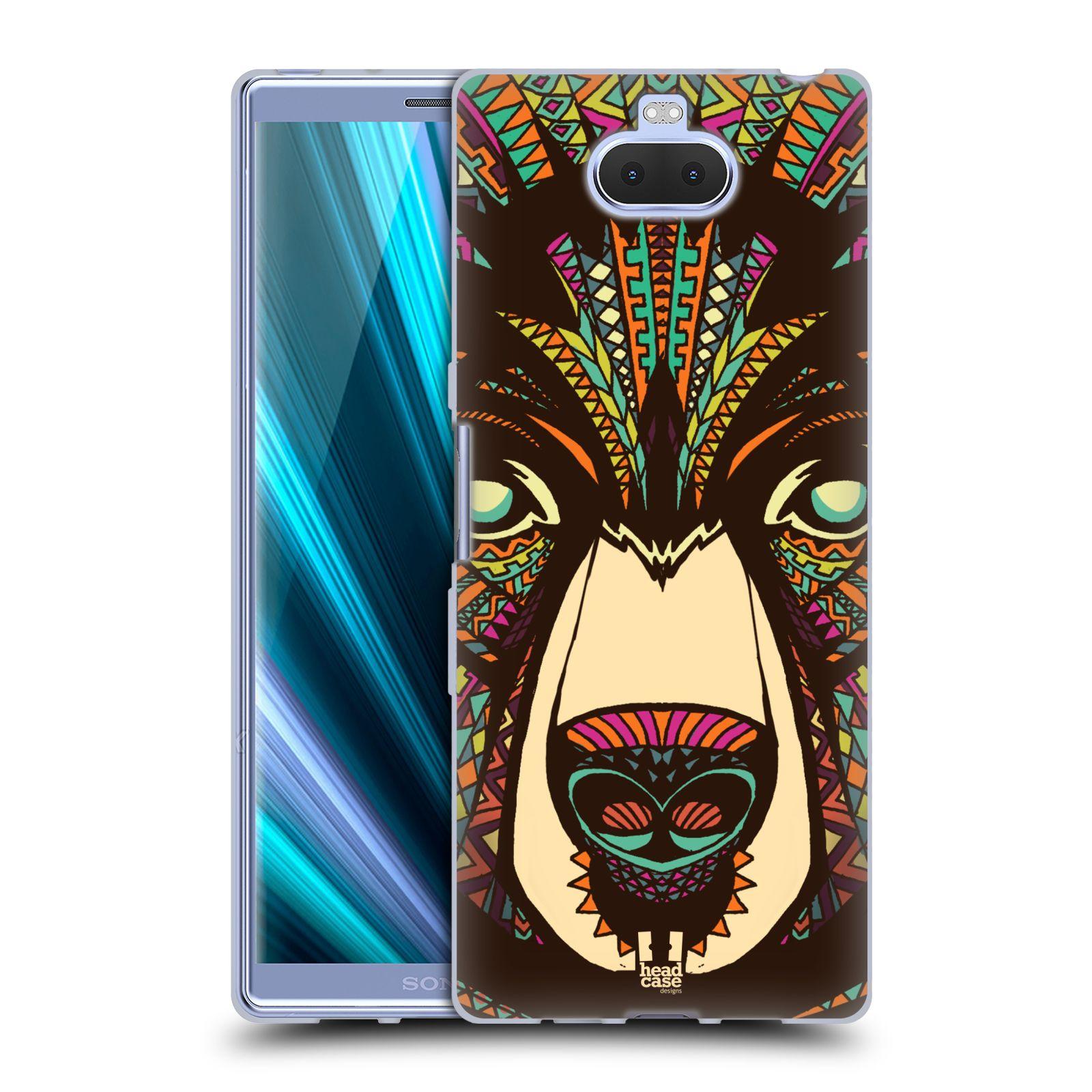 Silikonové pouzdro na mobil Sony Xperia 10 Plus - Head Case - AZTEC MEDVĚD