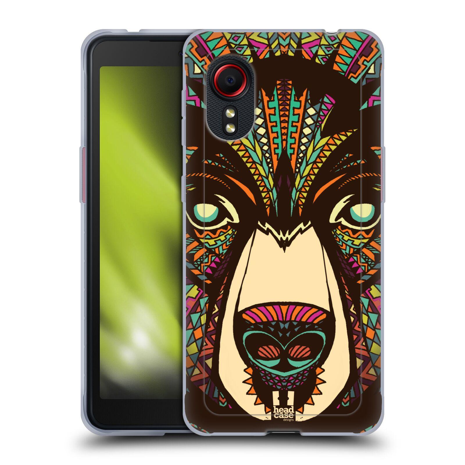 Silikonové pouzdro na mobil Samsung Galaxy Xcover 5 - Head Case - AZTEC MEDVĚD