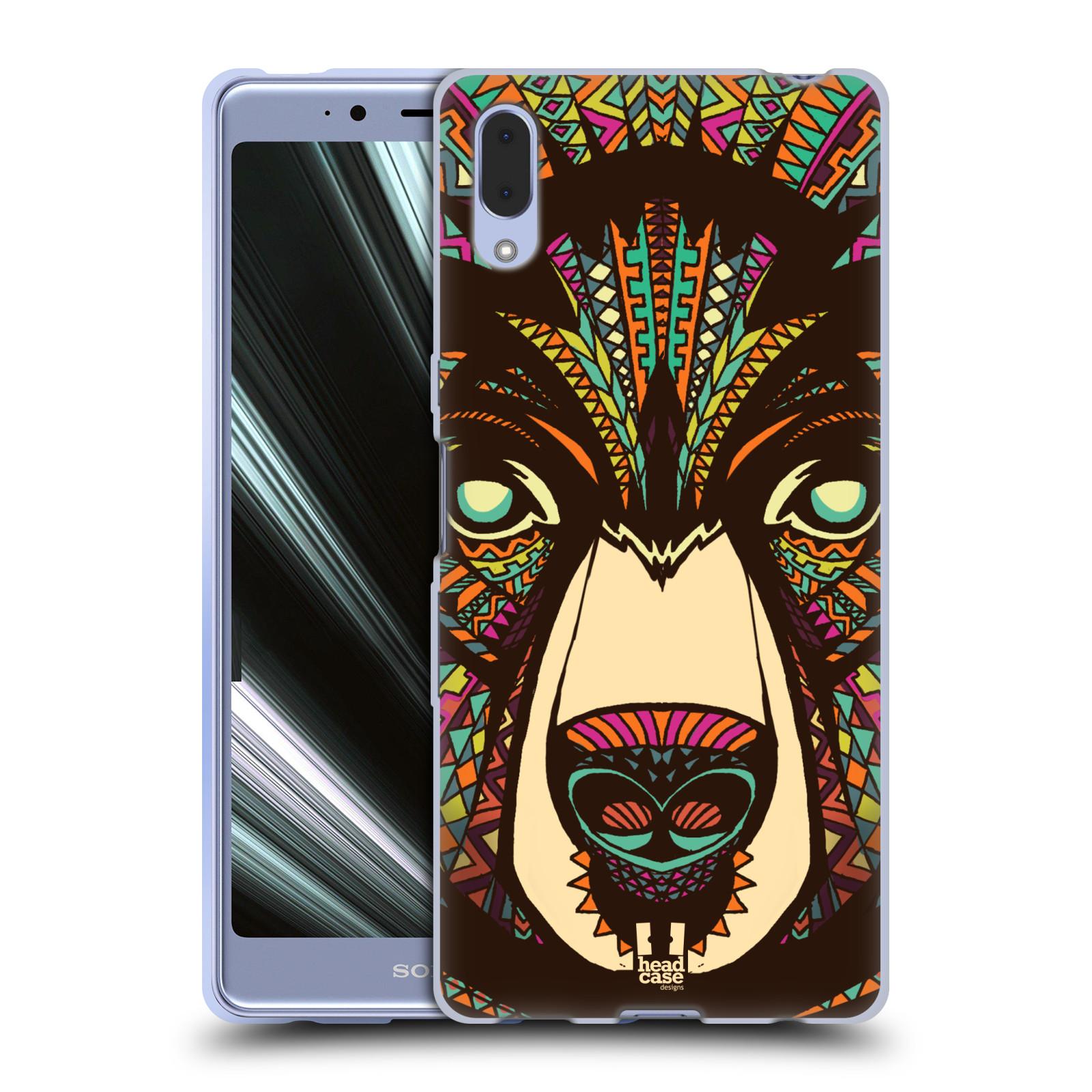 Silikonové pouzdro na mobil Sony Xperia L3 - Head Case - AZTEC MEDVĚD