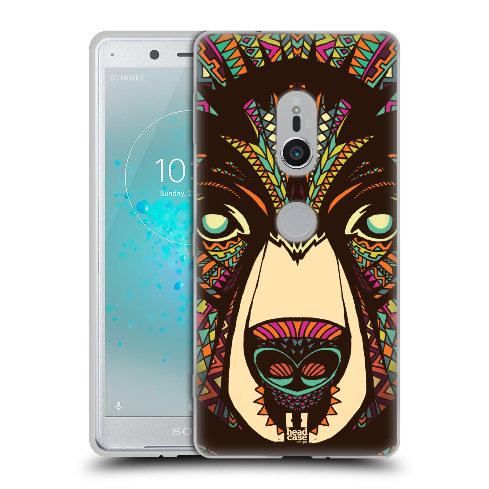 Silikonové pouzdro na mobil Sony Xperia XZ2 - Head Case - AZTEC MEDVĚD