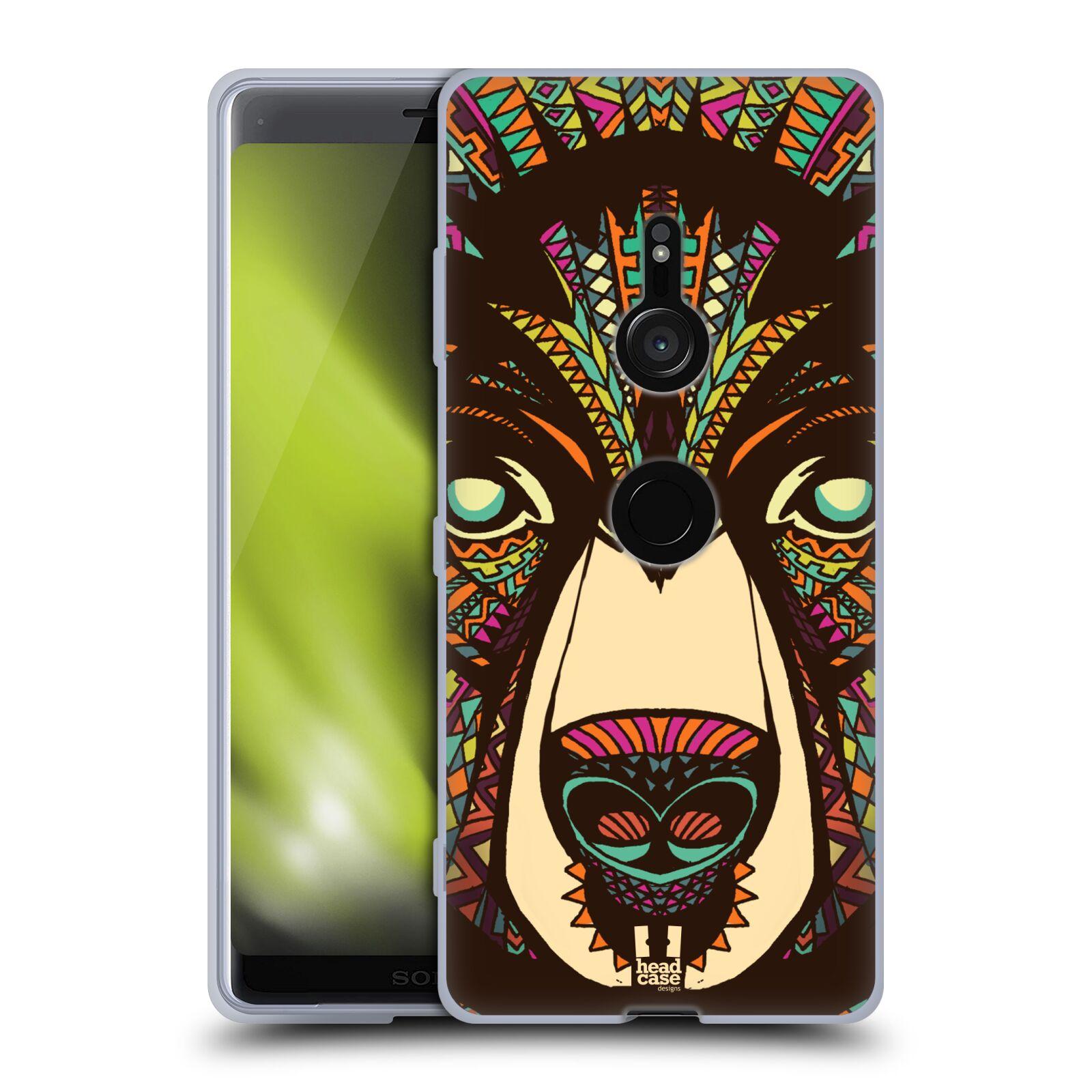 Silikonové pouzdro na mobil Sony Xperia XZ3 - Head Case - AZTEC MEDVĚD