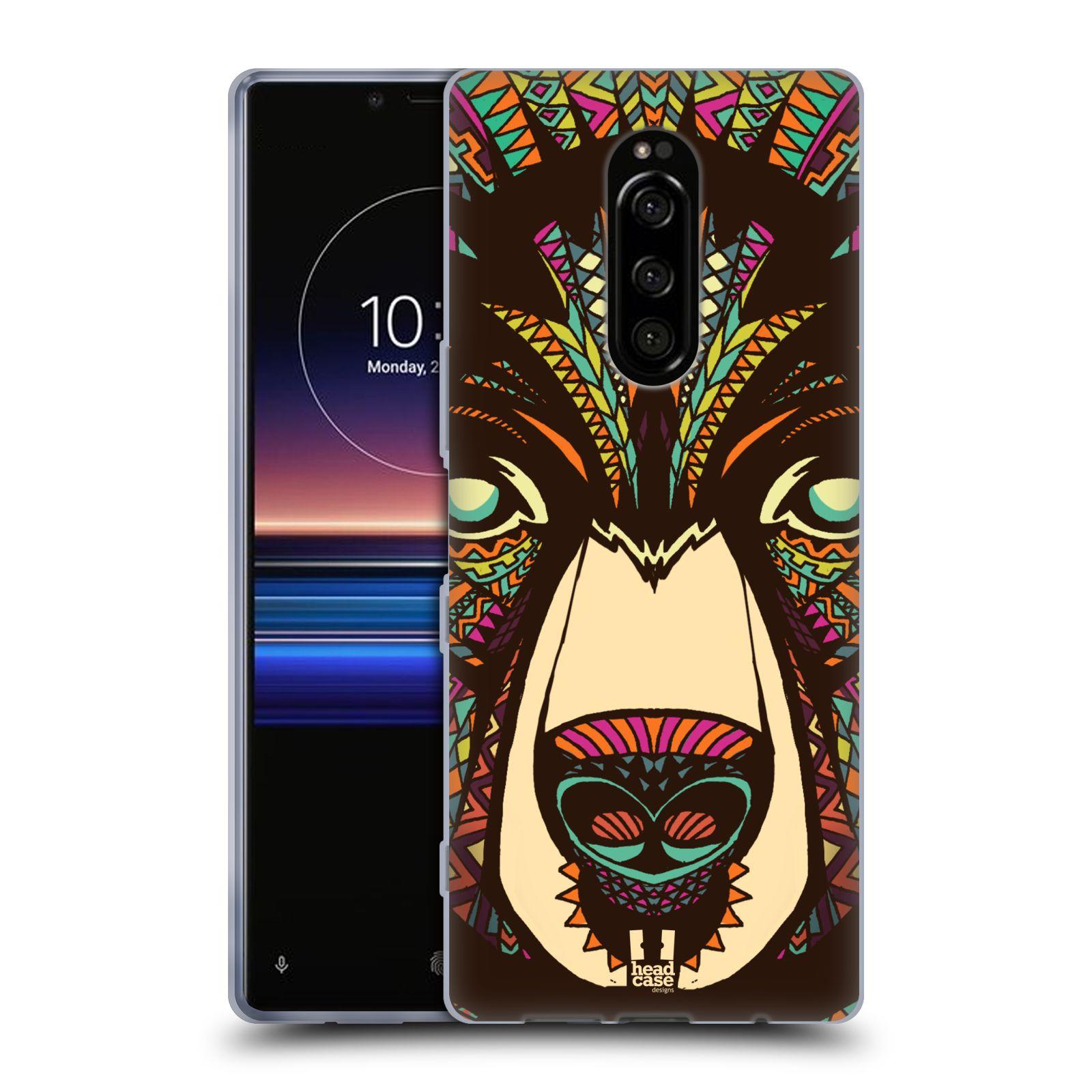 Silikonové pouzdro na mobil Sony Xperia 1 - Head Case - AZTEC MEDVĚD
