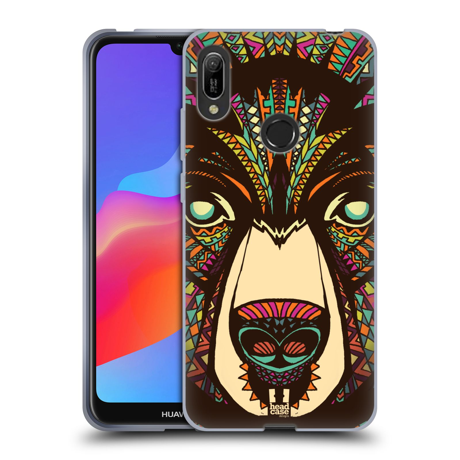 Silikonové pouzdro na mobil Huawei Y6 (2019) - Head Case - AZTEC MEDVĚD