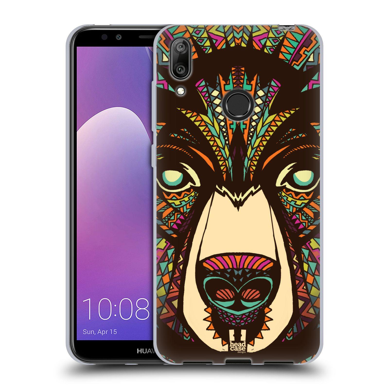 Silikonové pouzdro na mobil Huawei Y7 (2019) - Head Case - AZTEC MEDVĚD