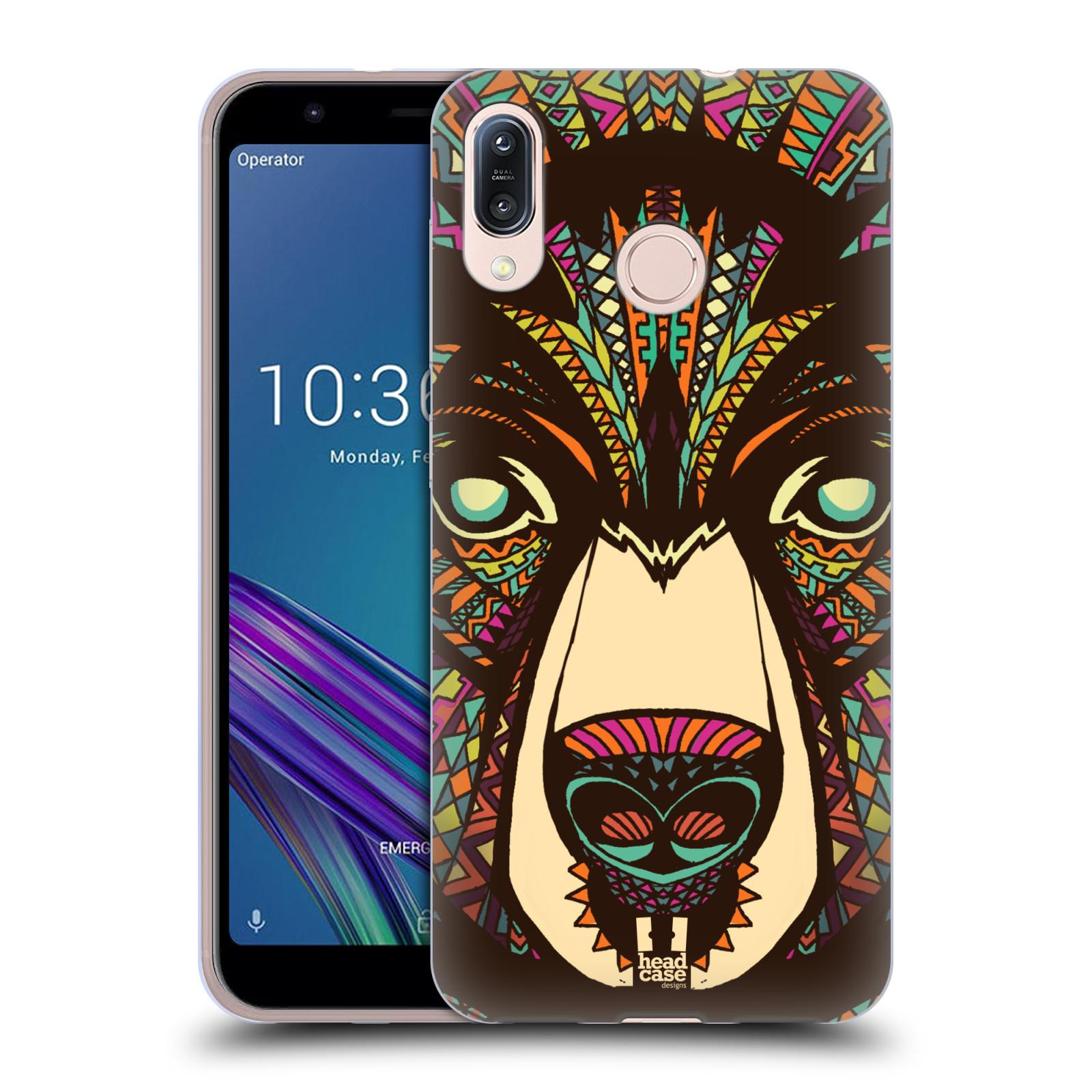 Silikonové pouzdro na mobil Asus Zenfone Max M1 ZB555KL - Head Case - AZTEC MEDVĚD