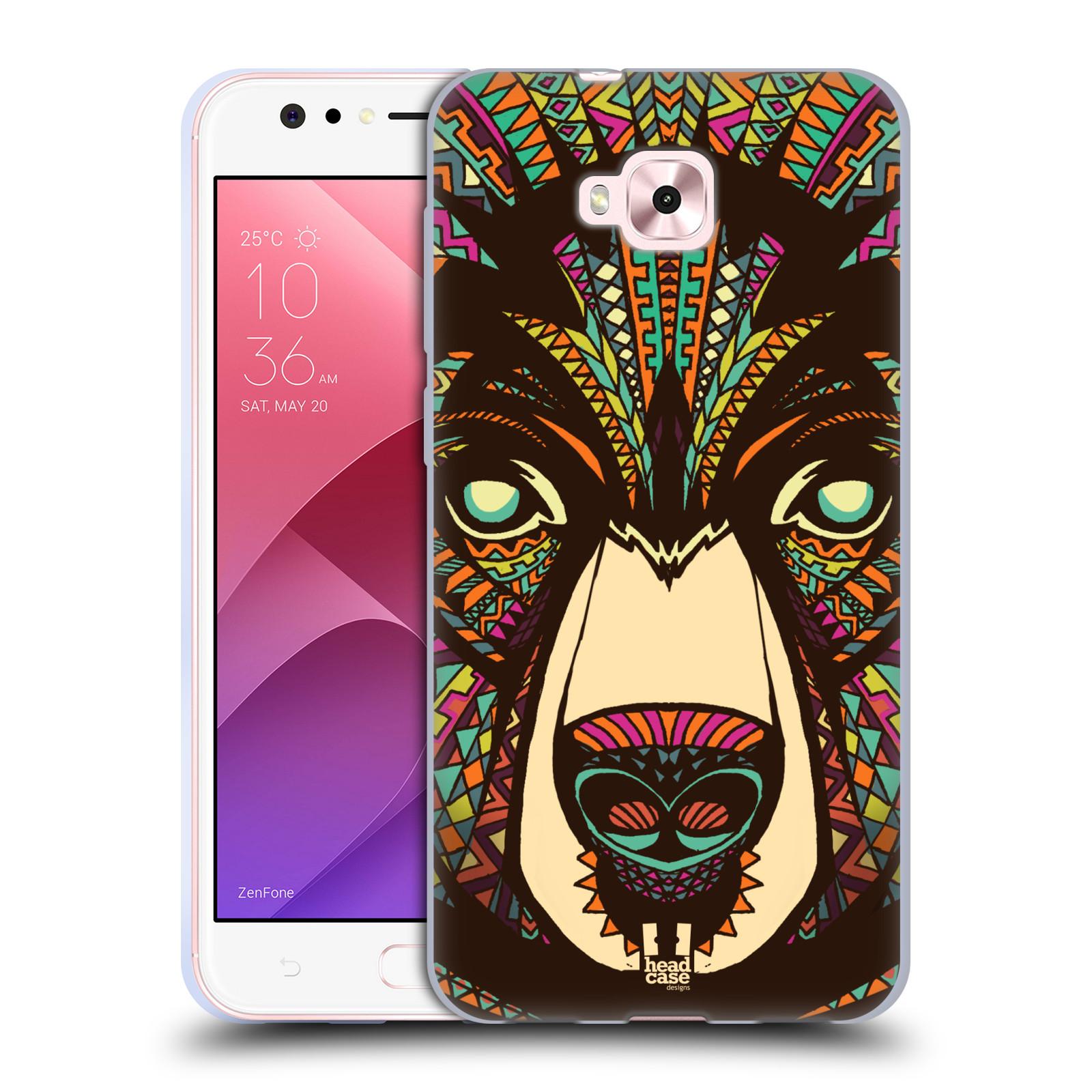 Silikonové pouzdro na mobil Asus Zenfone 4 Selfie ZD553KL - Head Case - AZTEC MEDVĚD