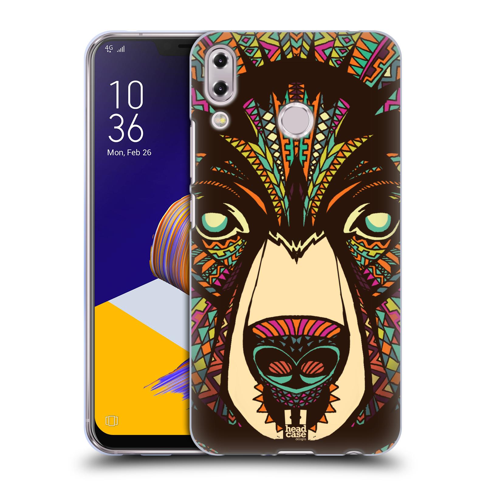 Silikonové pouzdro na mobil Asus Zenfone 5z ZS620KL - Head Case - AZTEC MEDVĚD