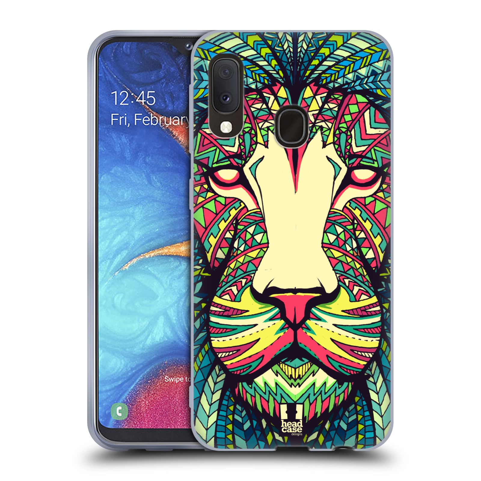 Silikonové pouzdro na mobil Samsung Galaxy A20e - Head Case - AZTEC LEV