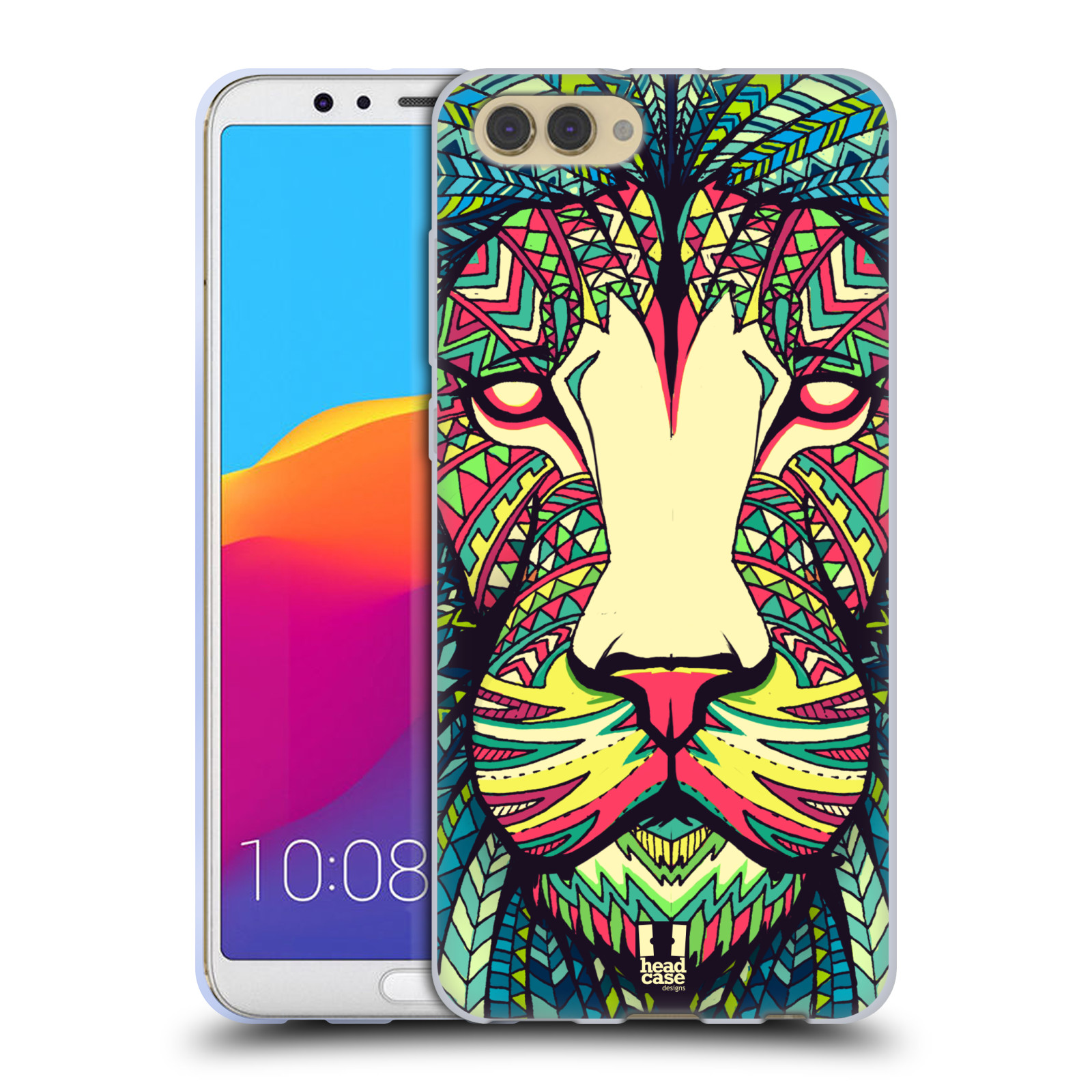 Silikonové pouzdro na mobil Honor View 10 - Head Case - AZTEC LEV