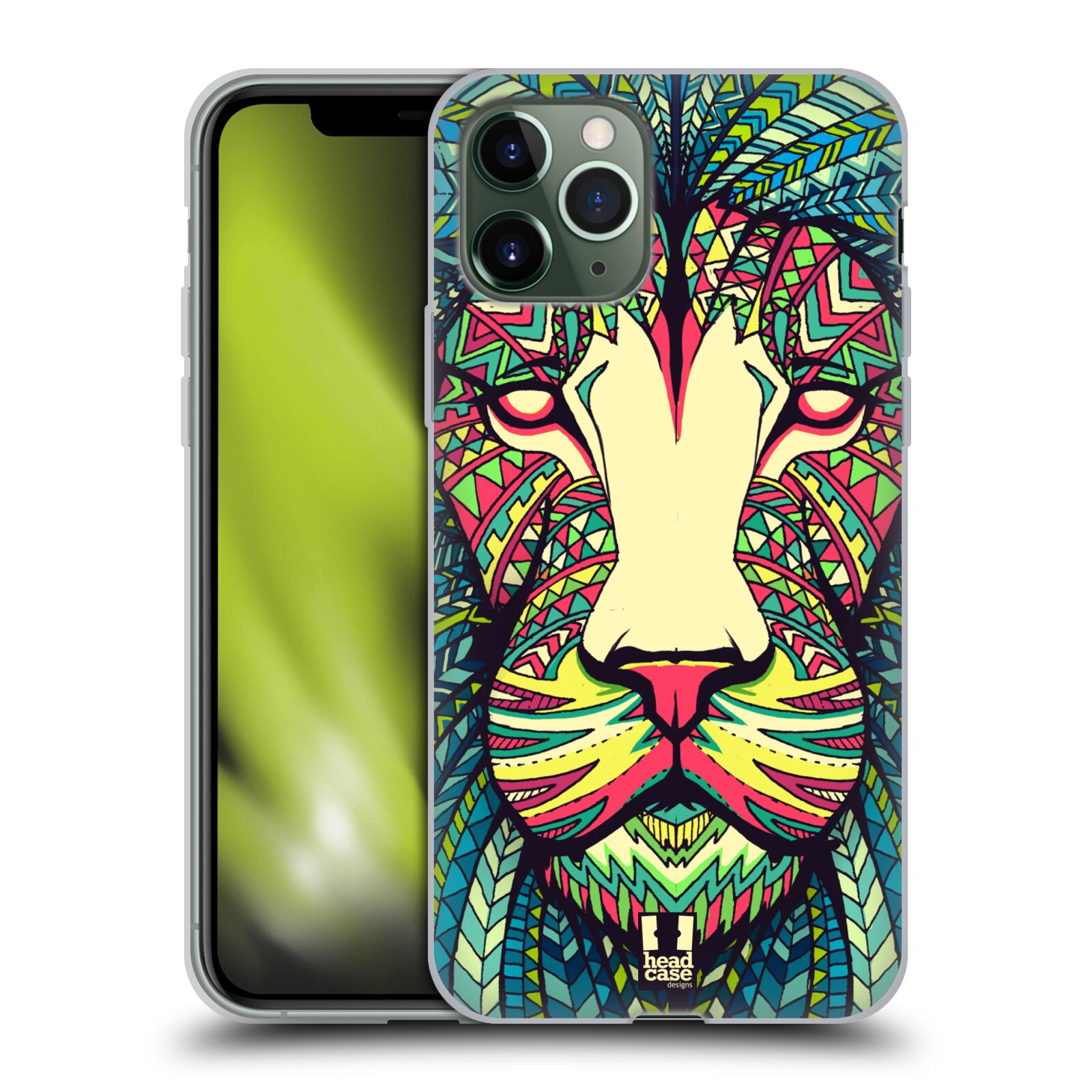 cover gucci iphone 8 ebay | Silikonové pouzdro na mobil Apple iPhone 11 Pro - Head Case - AZTEC LEV