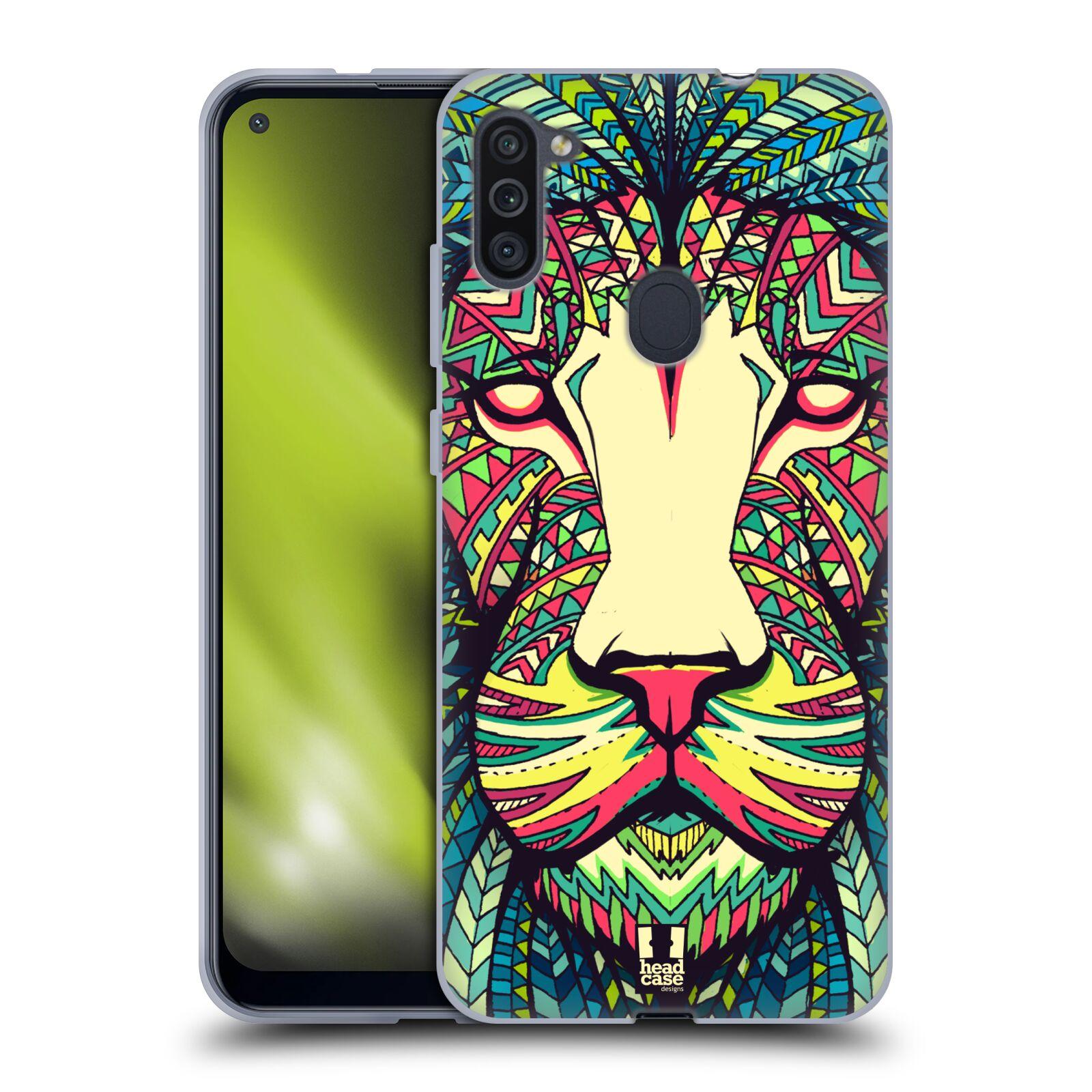 Silikonové pouzdro na mobil Samsung Galaxy M11 - Head Case - AZTEC LEV
