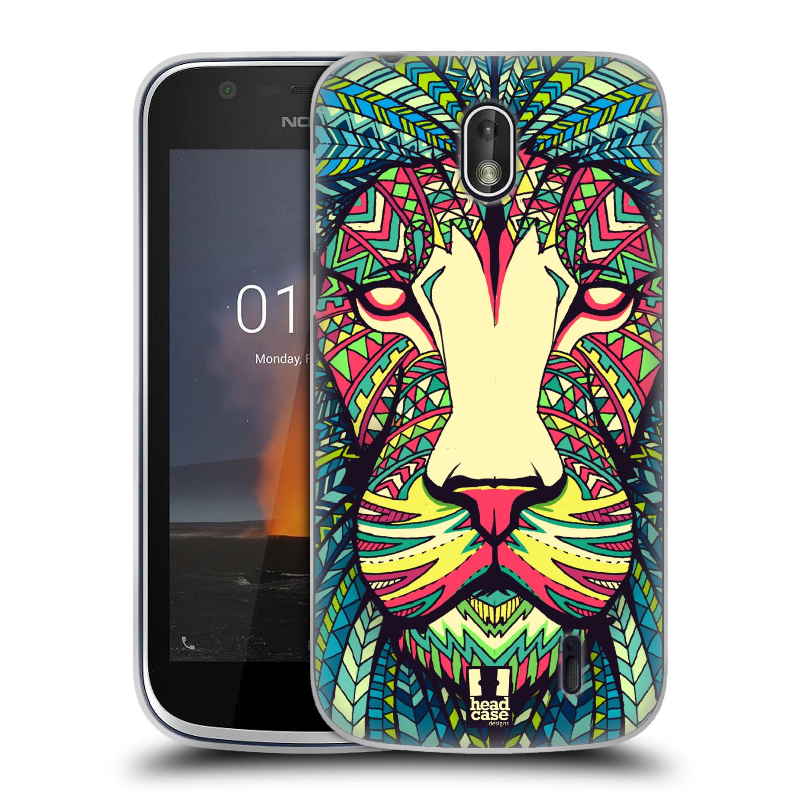 Silikonové pouzdro na mobil Nokia 1 - Head Case - AZTEC LEV