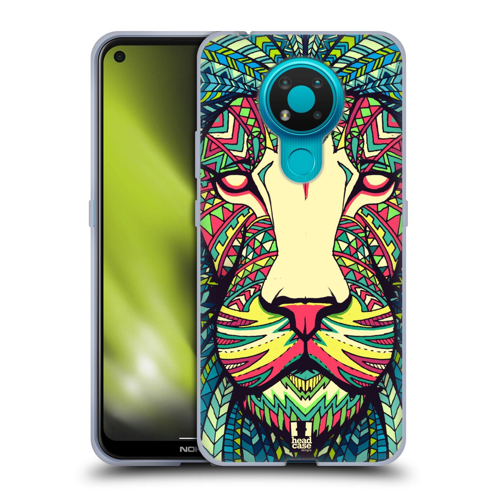 Silikonové pouzdro na mobil Nokia 3.4 - Head Case - AZTEC LEV