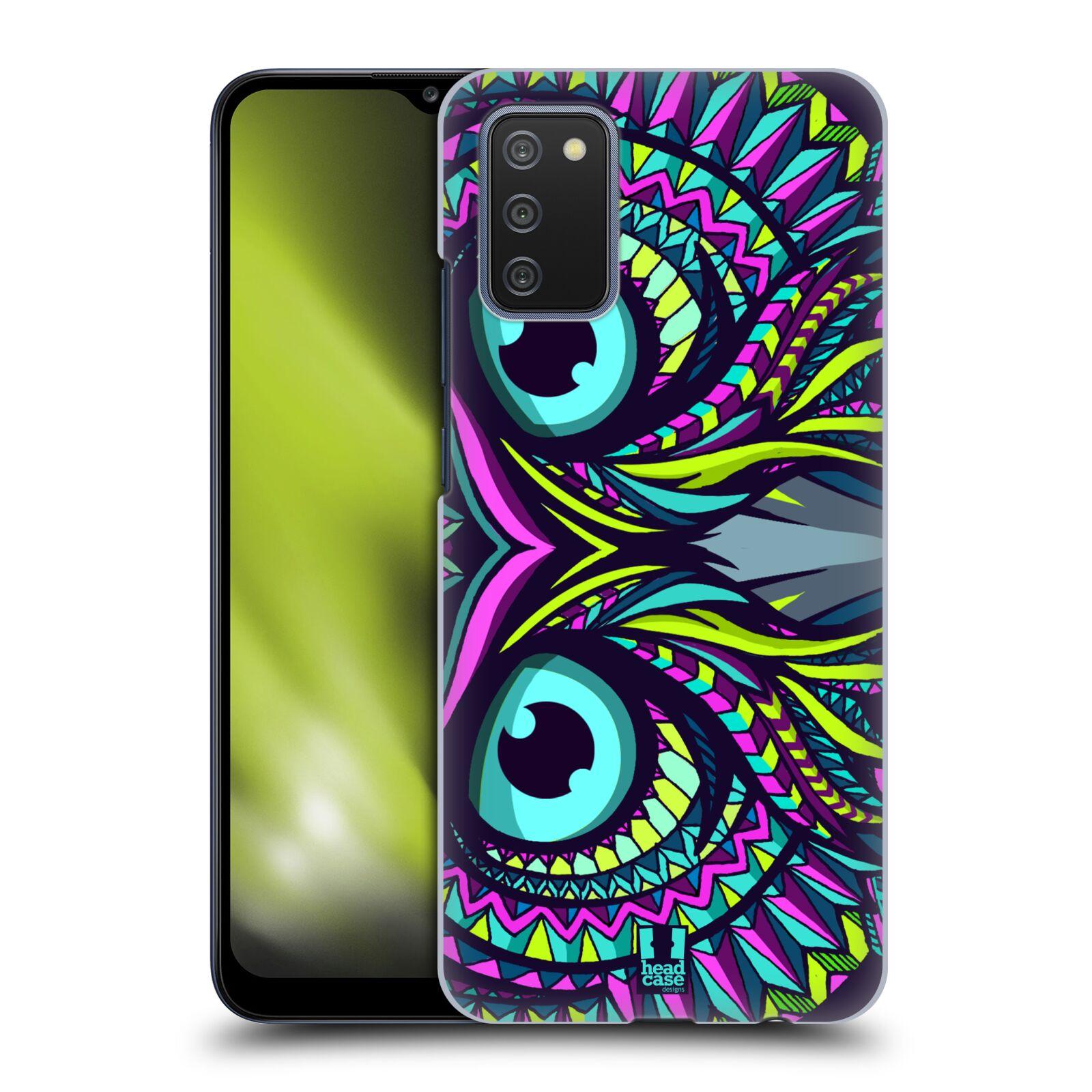 Plastové pouzdro na mobil Samsung Galaxy A02s - Head Case - AZTEC SOVA