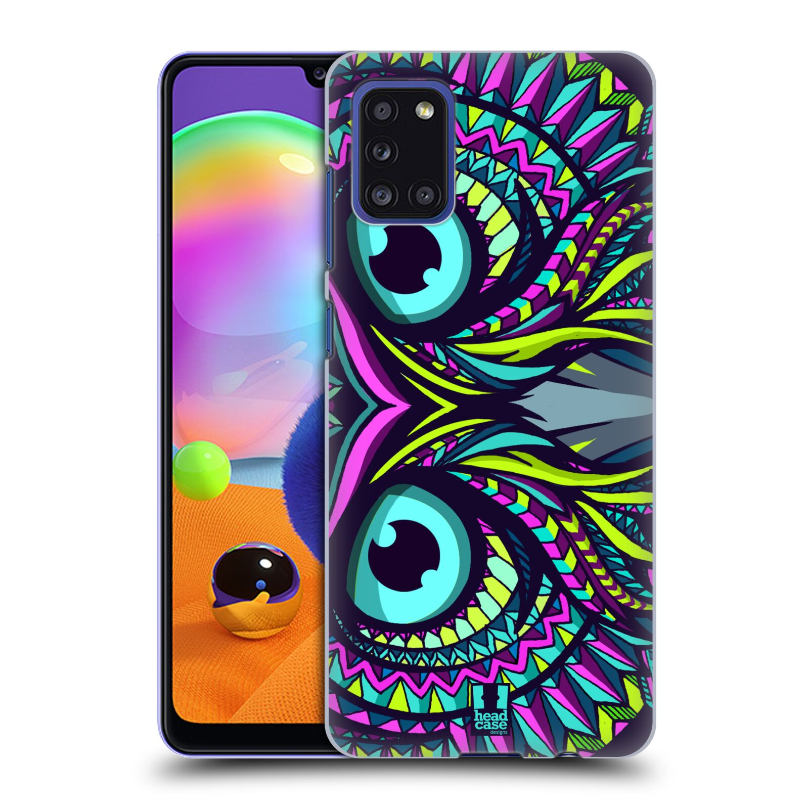 Plastové pouzdro na mobil Samsung Galaxy A31 - Head Case - AZTEC SOVA