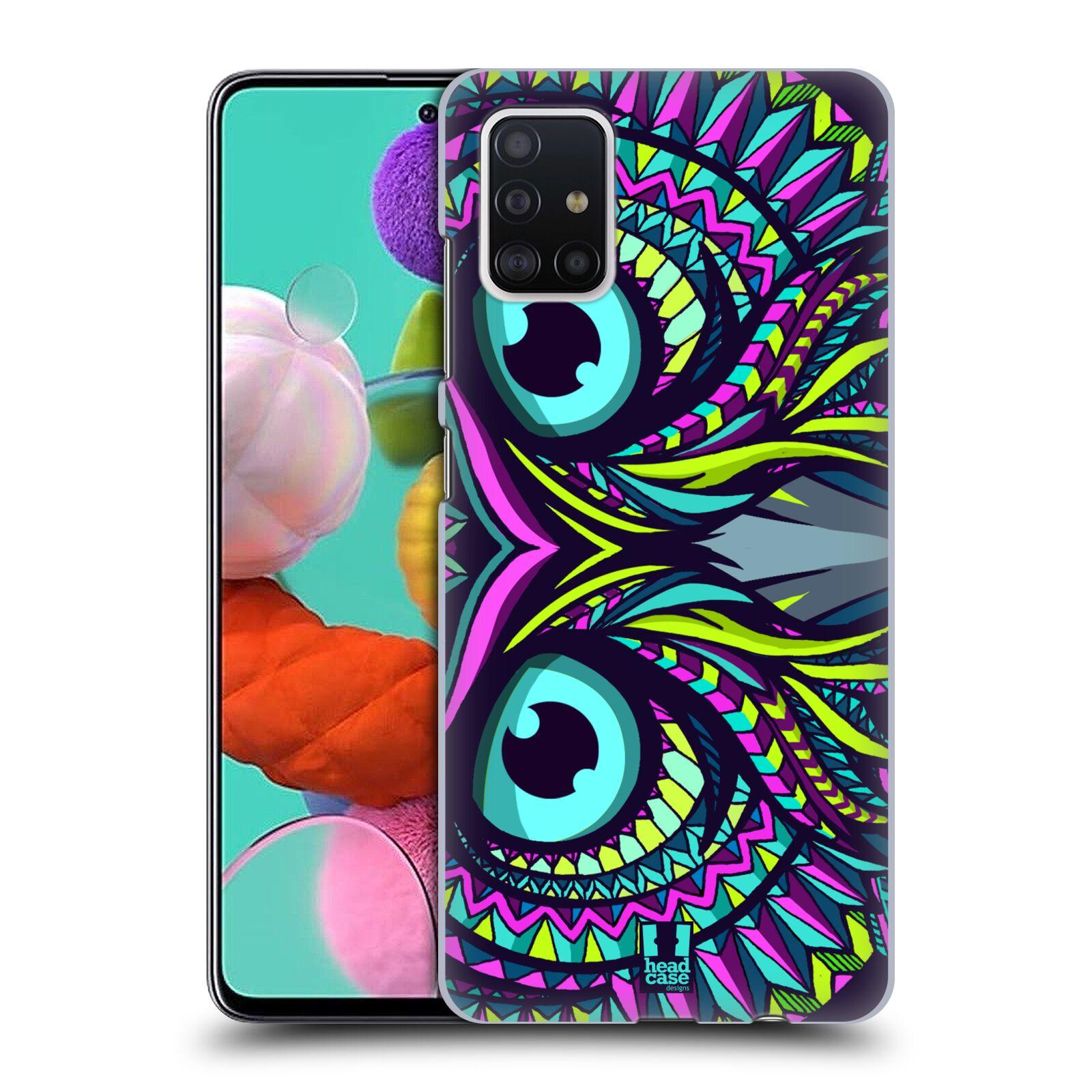 Plastové pouzdro na mobil Samsung Galaxy A51 - Head Case - AZTEC SOVA