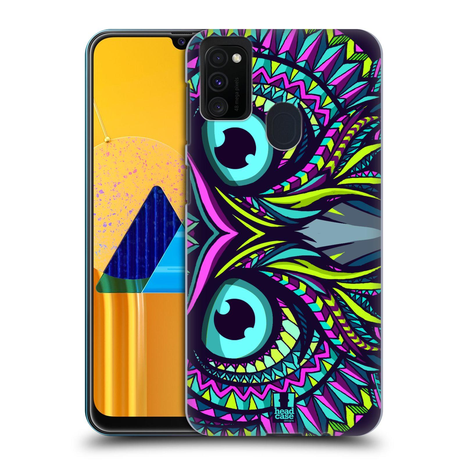 Plastové pouzdro na mobil Samsung Galaxy M21 - Head Case - AZTEC SOVA