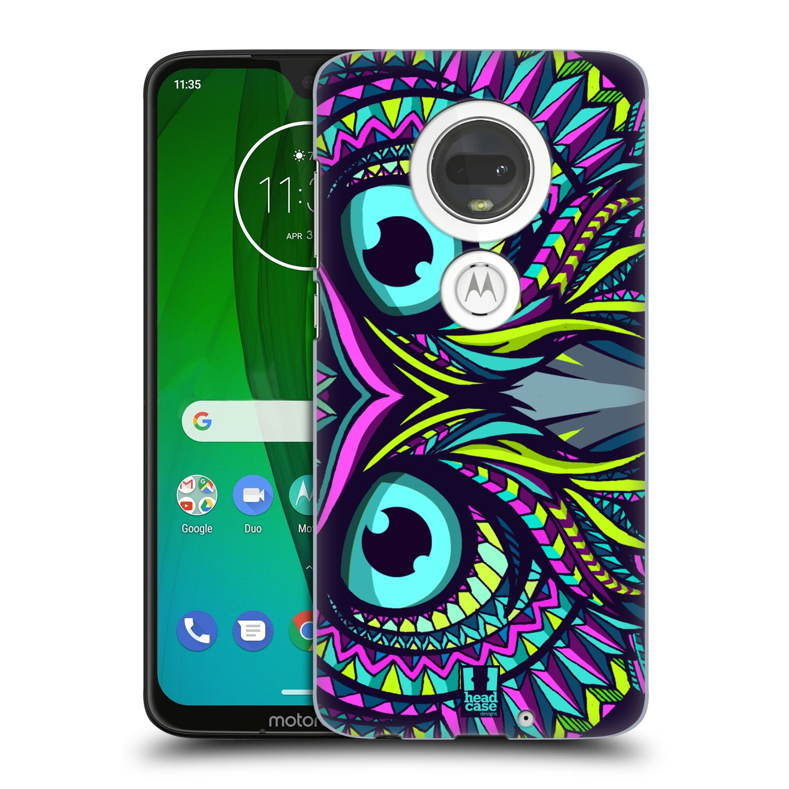 Plastové pouzdro na mobil Motorola Moto G7 - Head Case - AZTEC SOVA