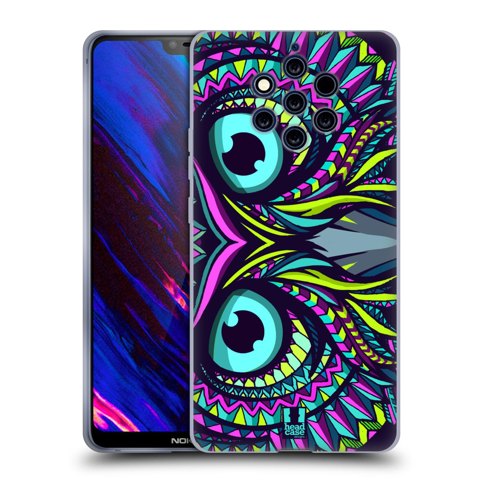 Silikonové pouzdro na mobil Nokia 9 PureView - Head Case - AZTEC SOVA