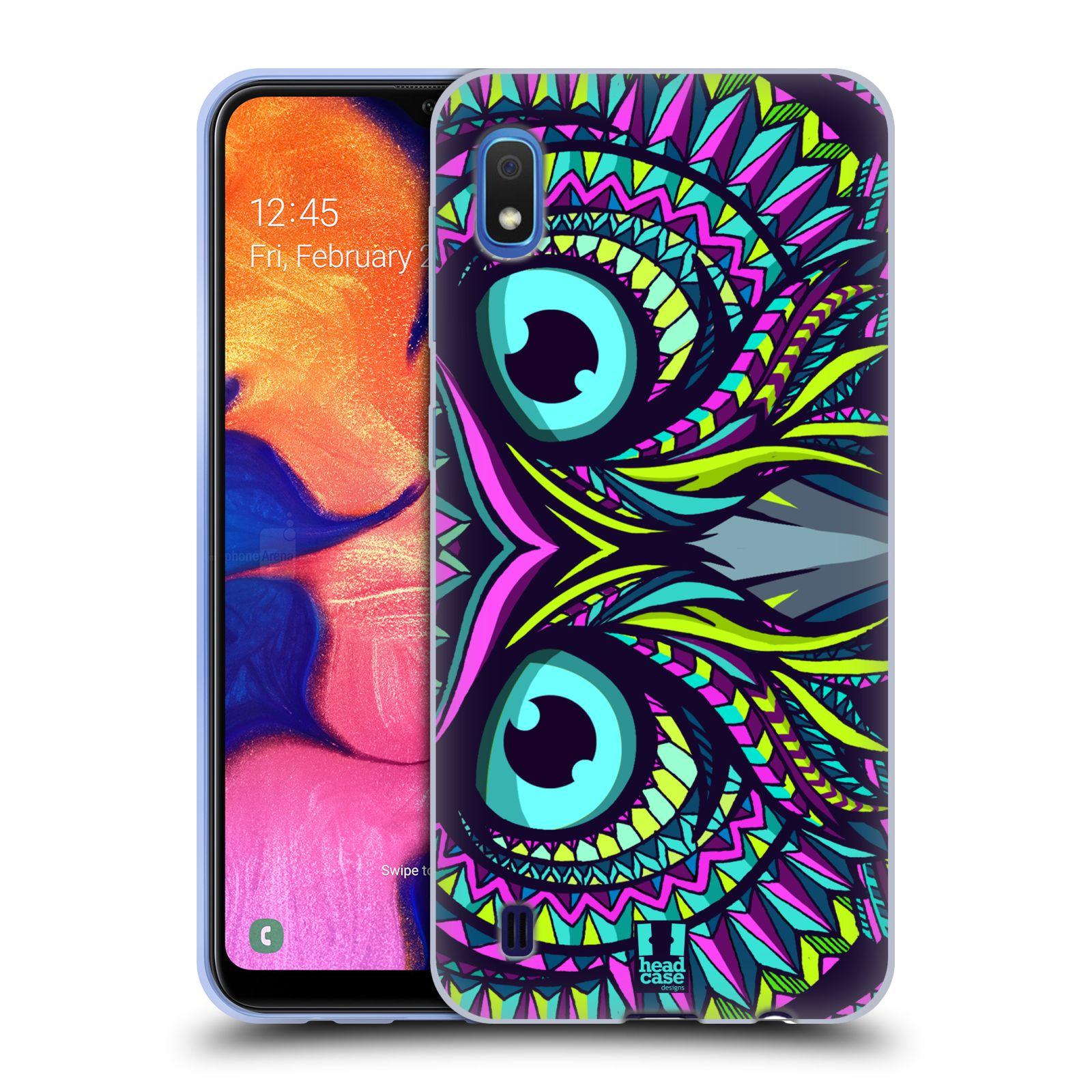Silikonové pouzdro na mobil Samsung Galaxy A10 - Head Case - AZTEC SOVA