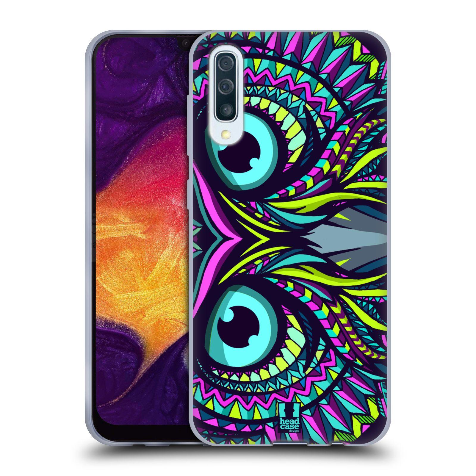 Silikonové pouzdro na mobil Samsung Galaxy A50 / A30s - Head Case - AZTEC SOVA