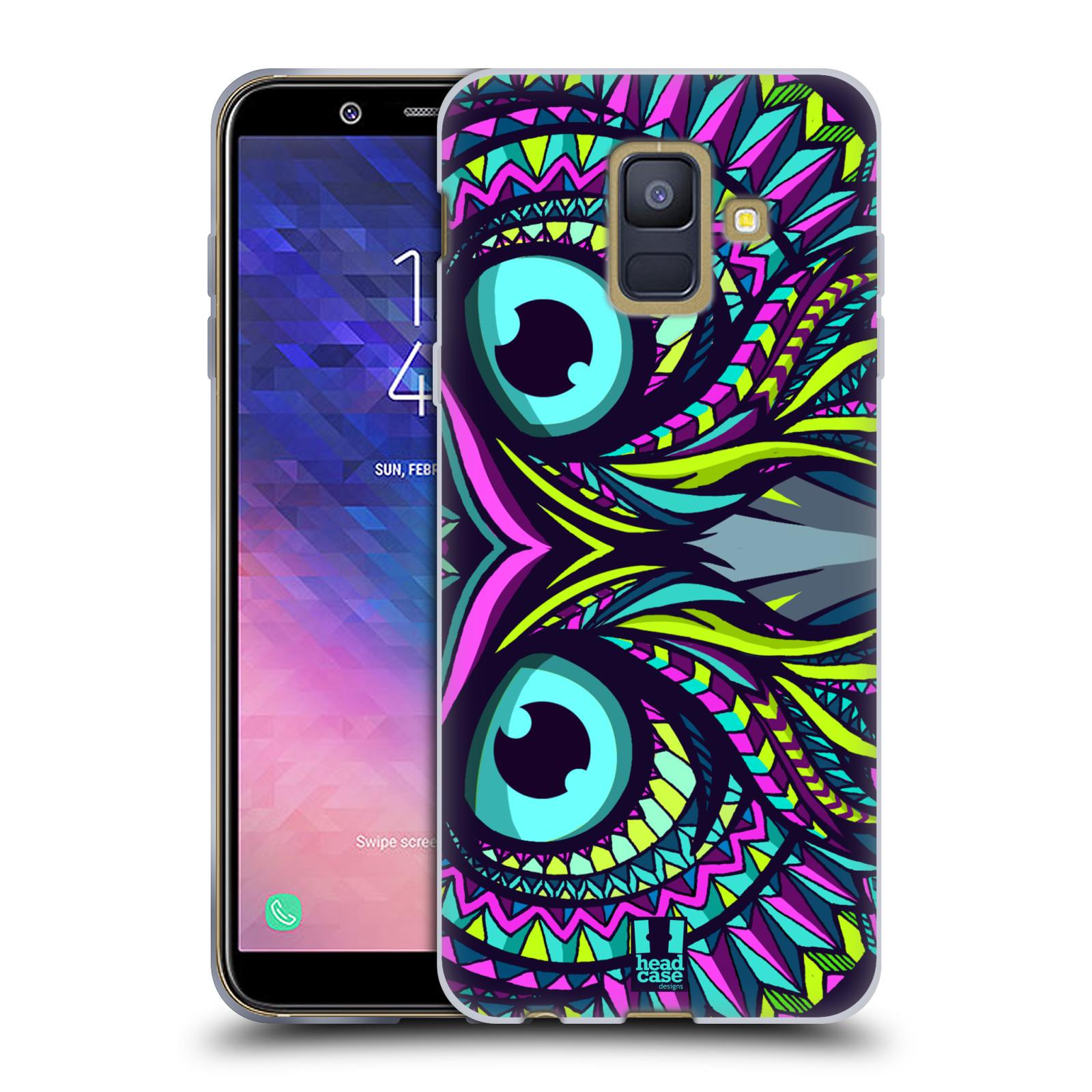 Silikonové pouzdro na mobil Samsung Galaxy A6 (2018) - Head Case - AZTEC SOVA
