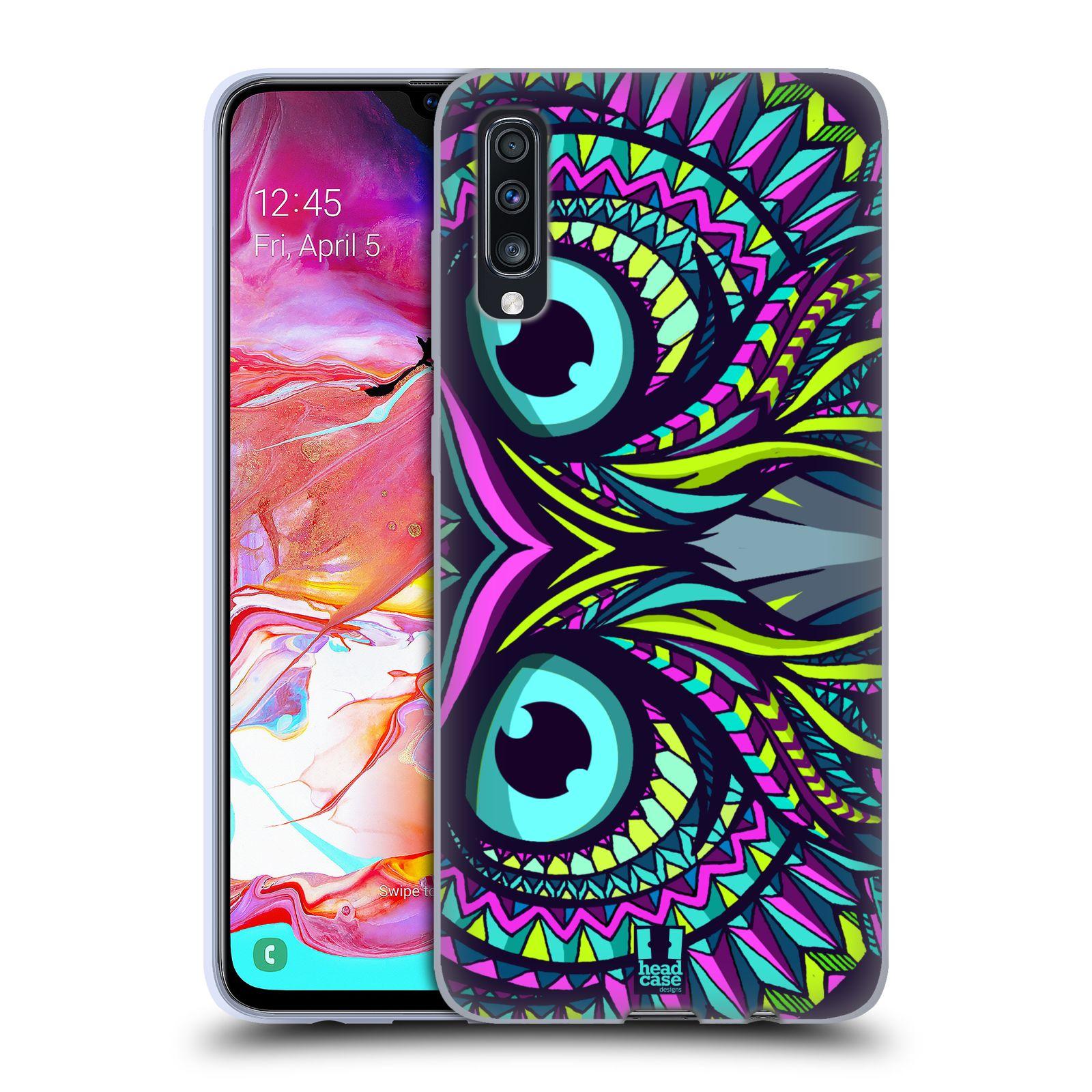 Silikonové pouzdro na mobil Samsung Galaxy A70 - Head Case - AZTEC SOVA