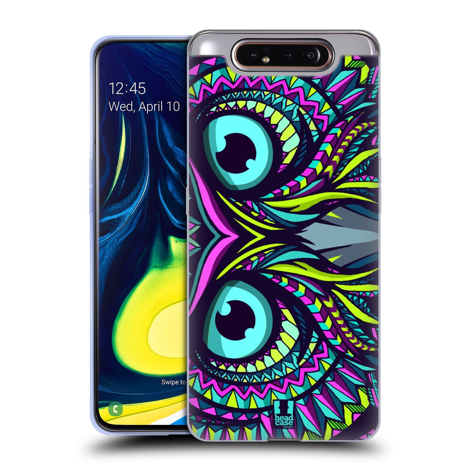 Silikonové pouzdro na mobil Samsung Galaxy A80 - Head Case - AZTEC SOVA