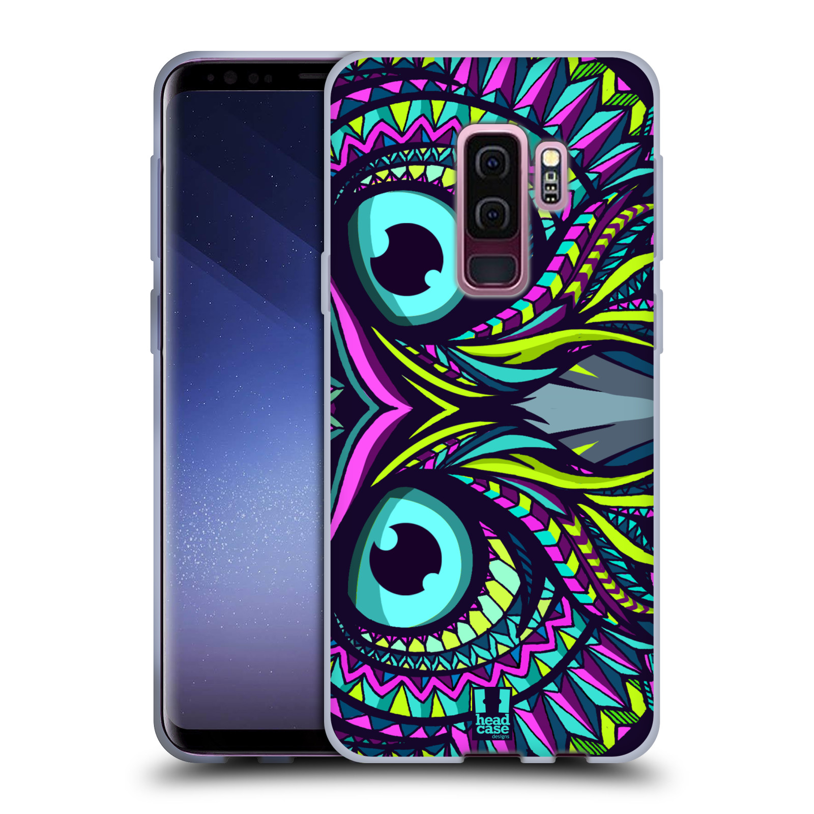 Silikonové pouzdro na mobil Samsung Galaxy S9 Plus - Head Case - AZTEC SOVA