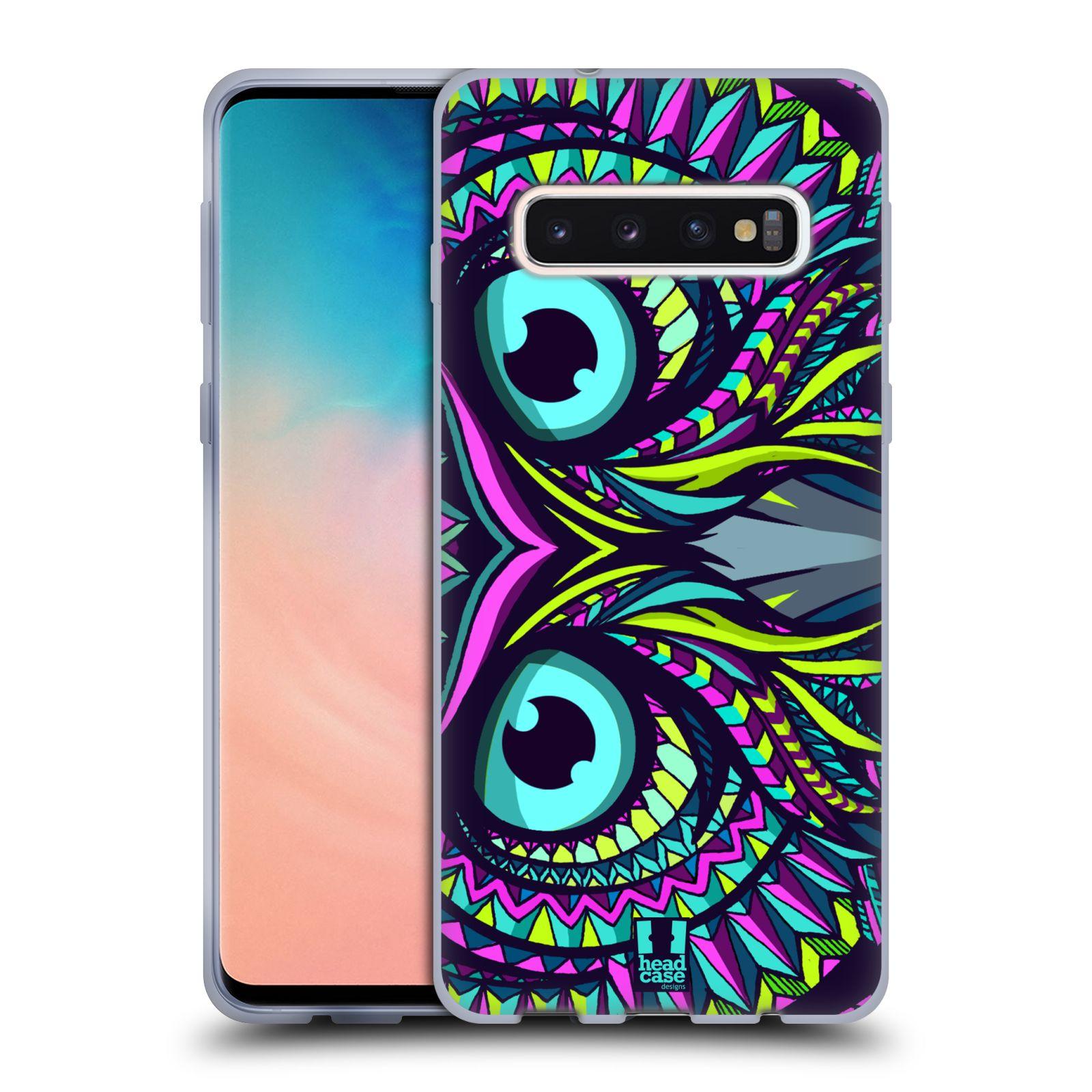 Silikonové pouzdro na mobil Samsung Galaxy S10 - Head Case - AZTEC SOVA
