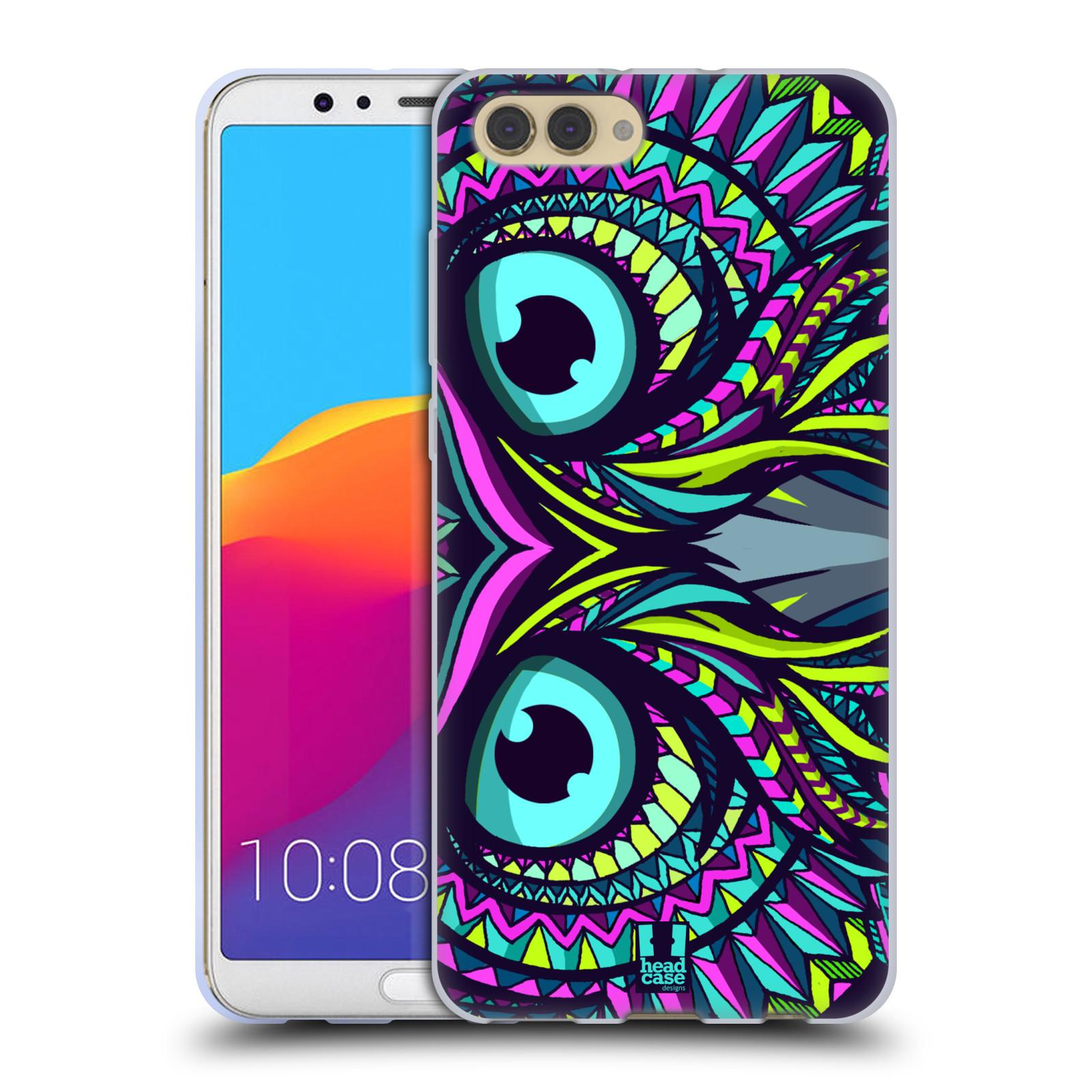 Silikonové pouzdro na mobil Honor View 10 - Head Case - AZTEC SOVA