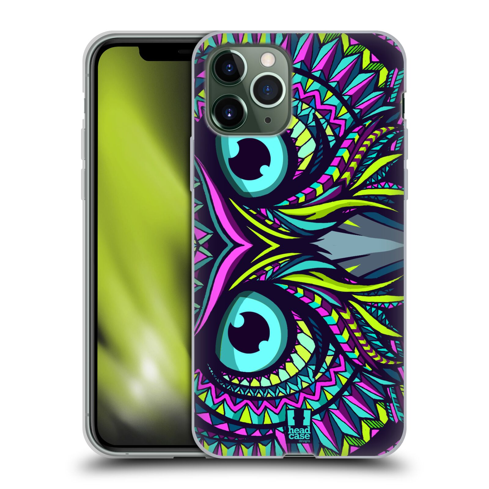 iphone 11 kryt apple , Silikonové pouzdro na mobil Apple iPhone 11 Pro - Head Case - AZTEC SOVA