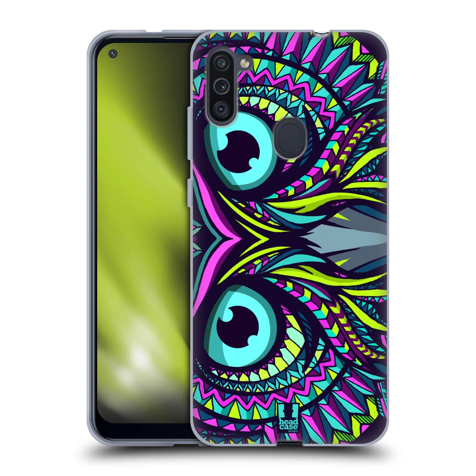 Silikonové pouzdro na mobil Samsung Galaxy M11 - Head Case - AZTEC SOVA