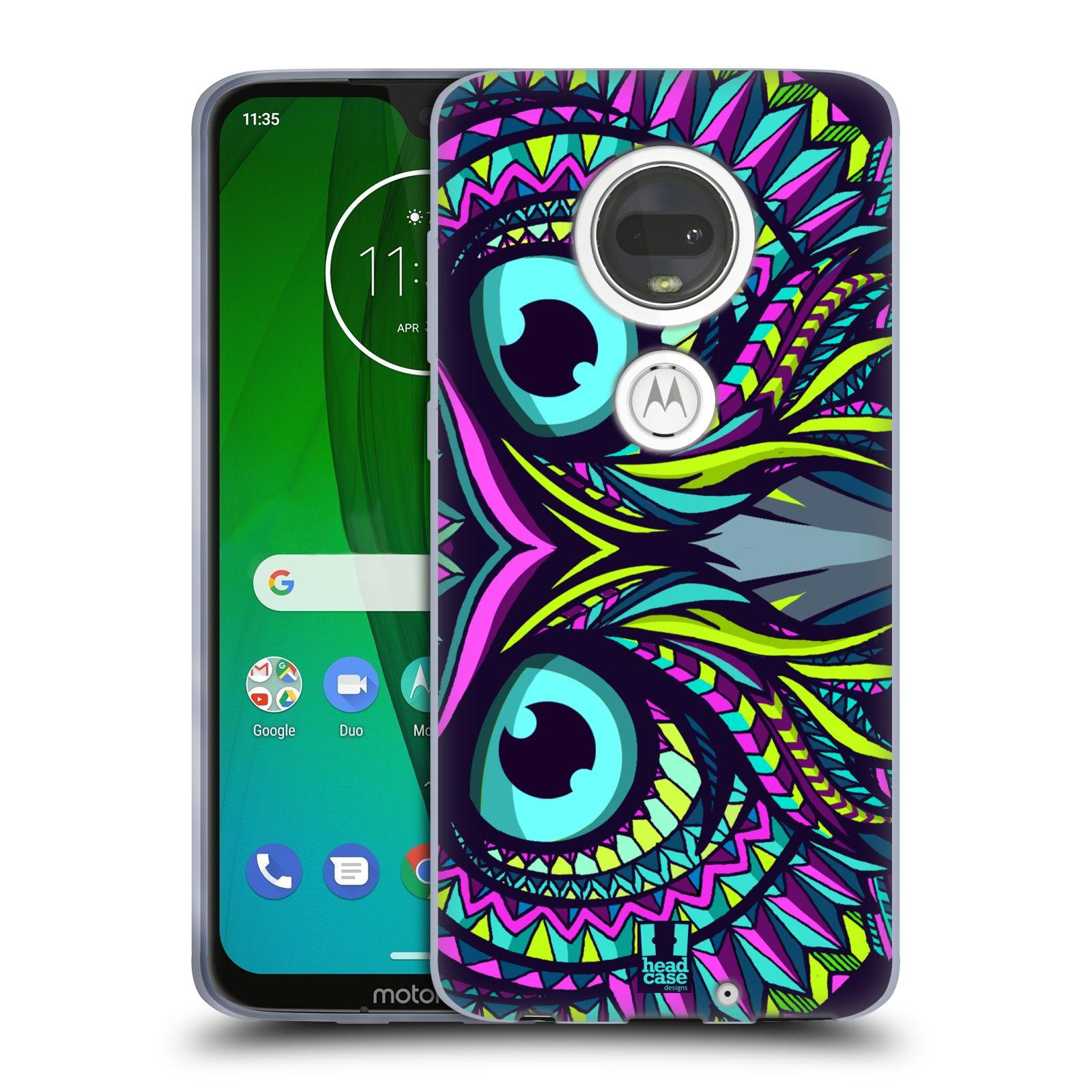 Silikonové pouzdro na mobil Motorola Moto G7 - Head Case - AZTEC SOVA