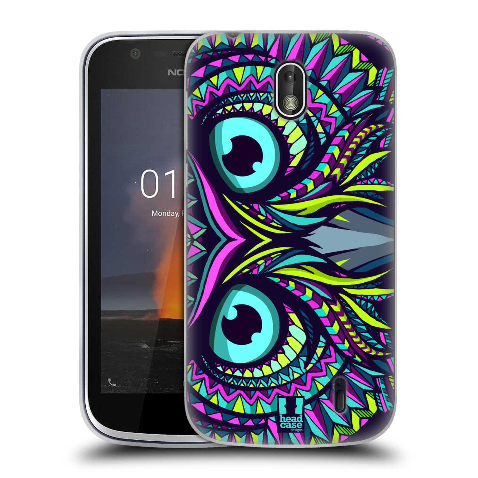 Silikonové pouzdro na mobil Nokia 1 - Head Case - AZTEC SOVA