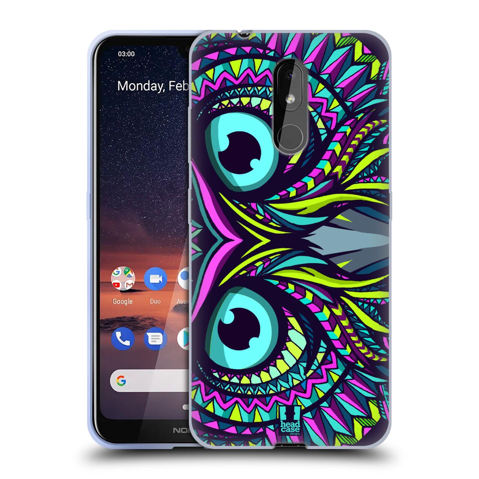 Silikonové pouzdro na mobil Nokia 3.2 - Head Case - AZTEC SOVA