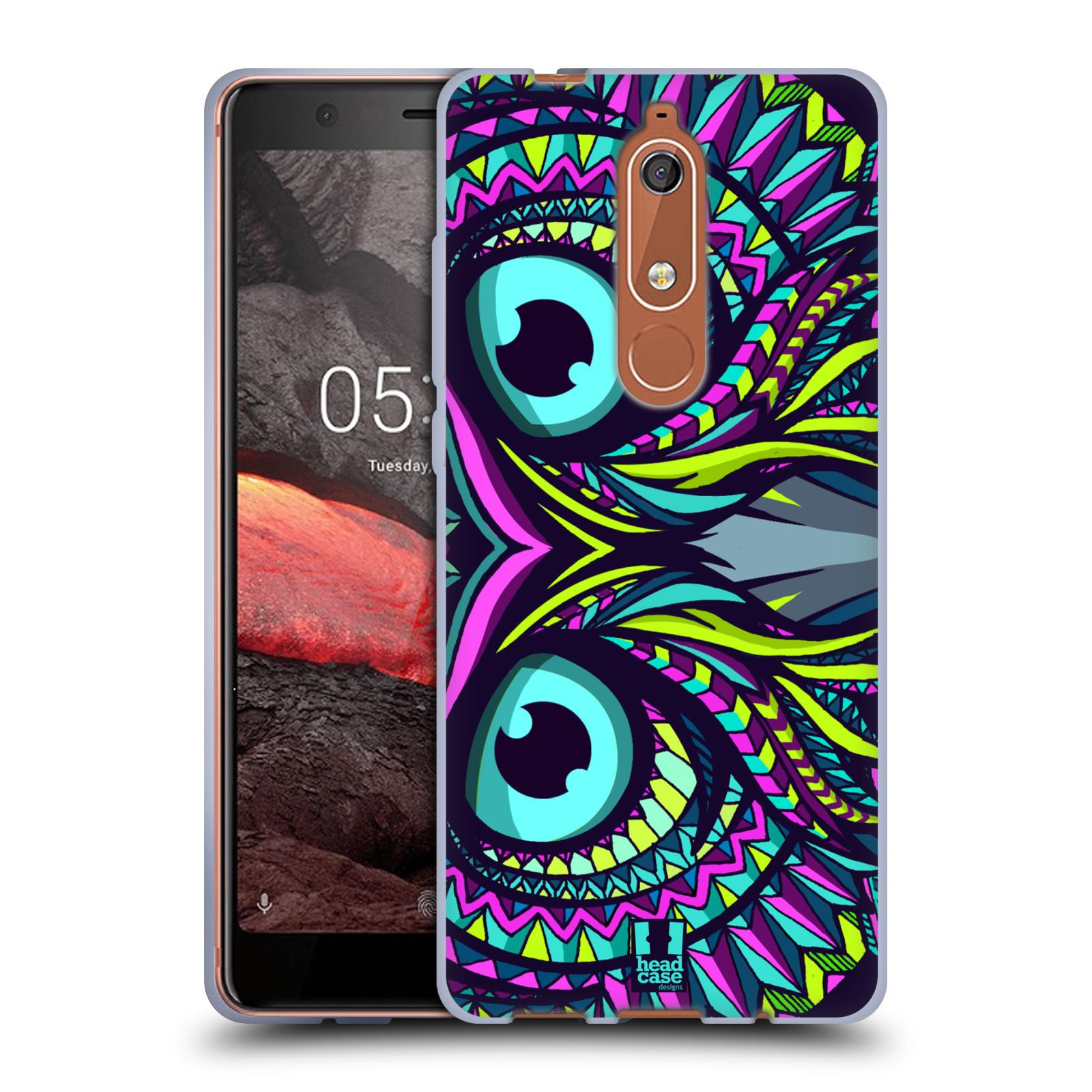Silikonové pouzdro na mobil Nokia 5.1 - Head Case - AZTEC SOVA