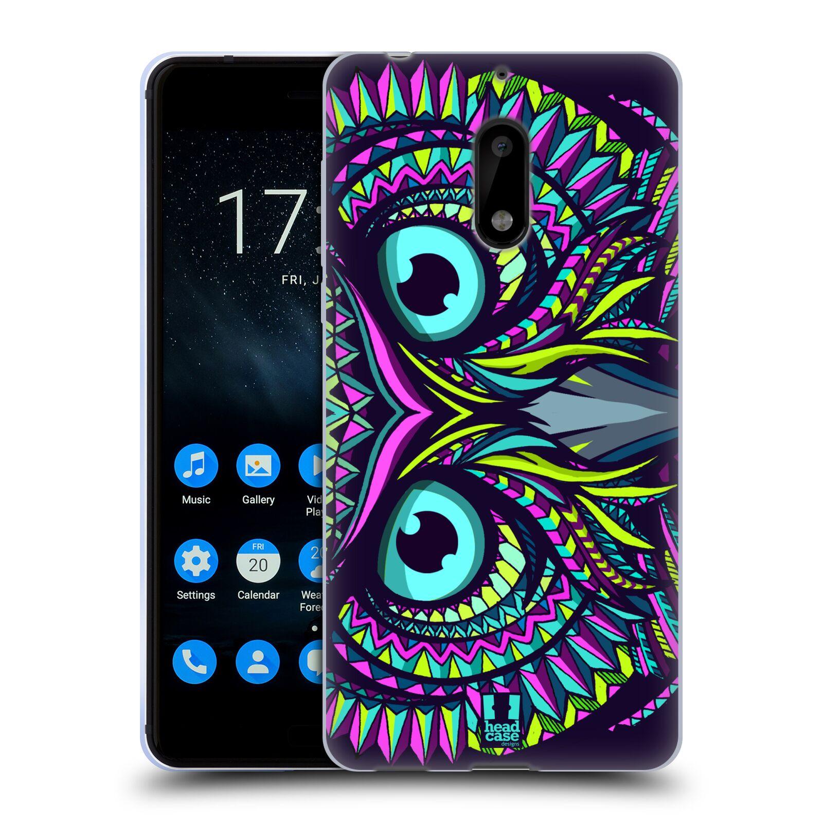 Silikonové pouzdro na mobil Nokia 6 - Head Case - AZTEC SOVA