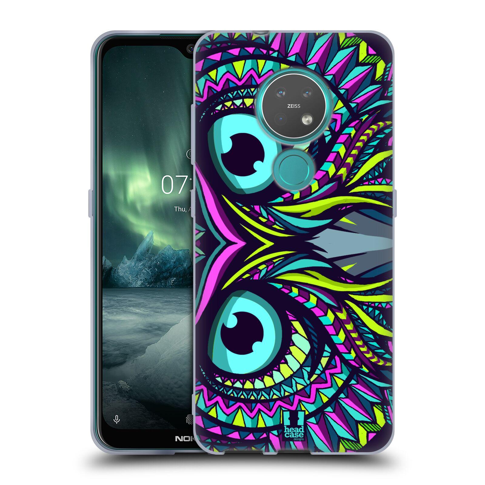 Silikonové pouzdro na mobil Nokia 7.2 - Head Case - AZTEC SOVA