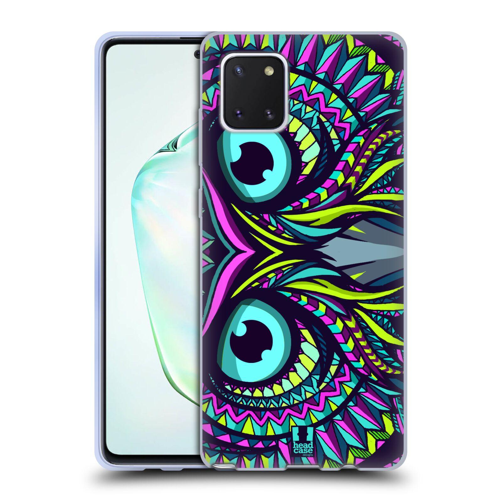 Silikonové pouzdro na mobil Samsung Galaxy Note 10 Lite - Head Case - AZTEC SOVA