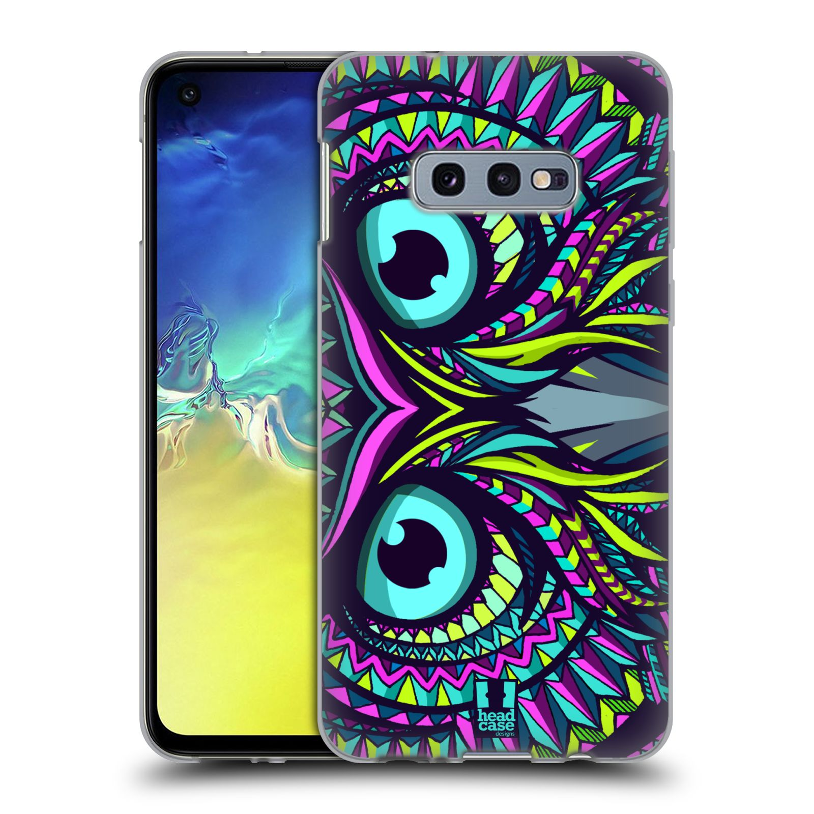 Silikonové pouzdro na mobil Samsung Galaxy S10e - Head Case - AZTEC SOVA